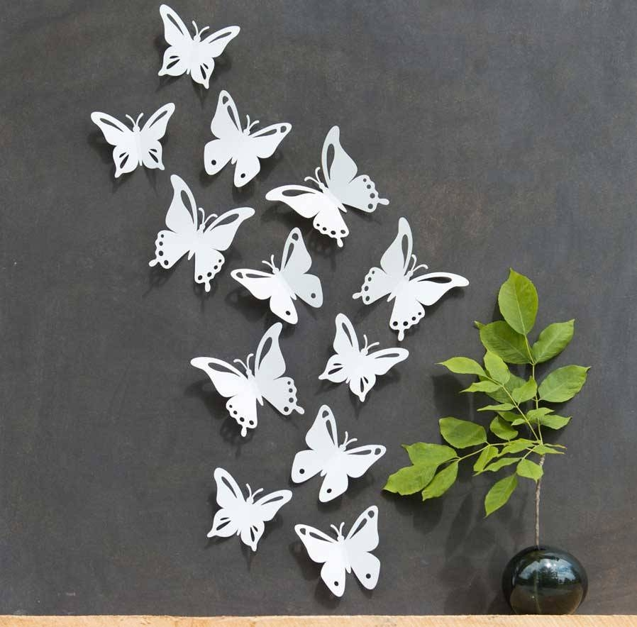 Inspiring Butterfly Wall Art Design Ideas | Home Interior & Exterior Within Most Recently Released Butterflies Metal Wall Art (View 14 of 20)