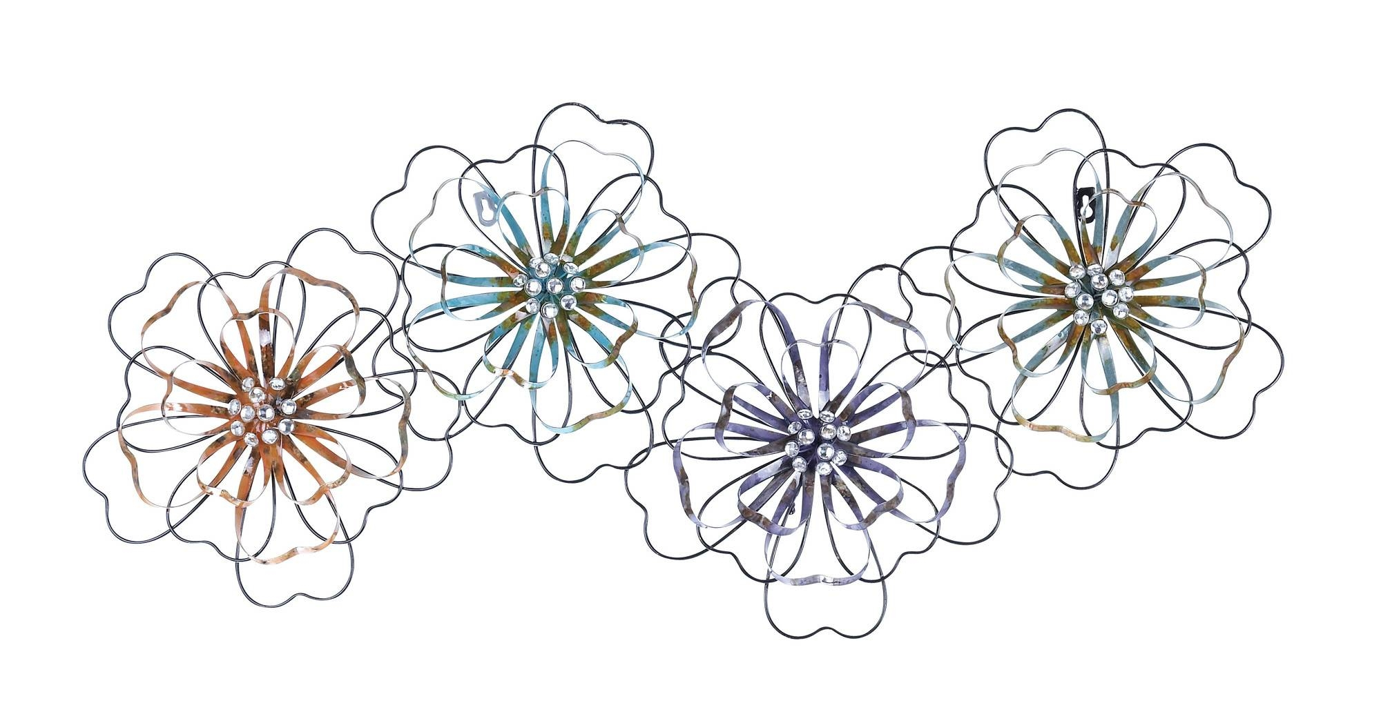 Intermingled Flowers – Floral Metal Wall Art Within Most Up To Date Metal Wall Art Flowers (View 7 of 20)