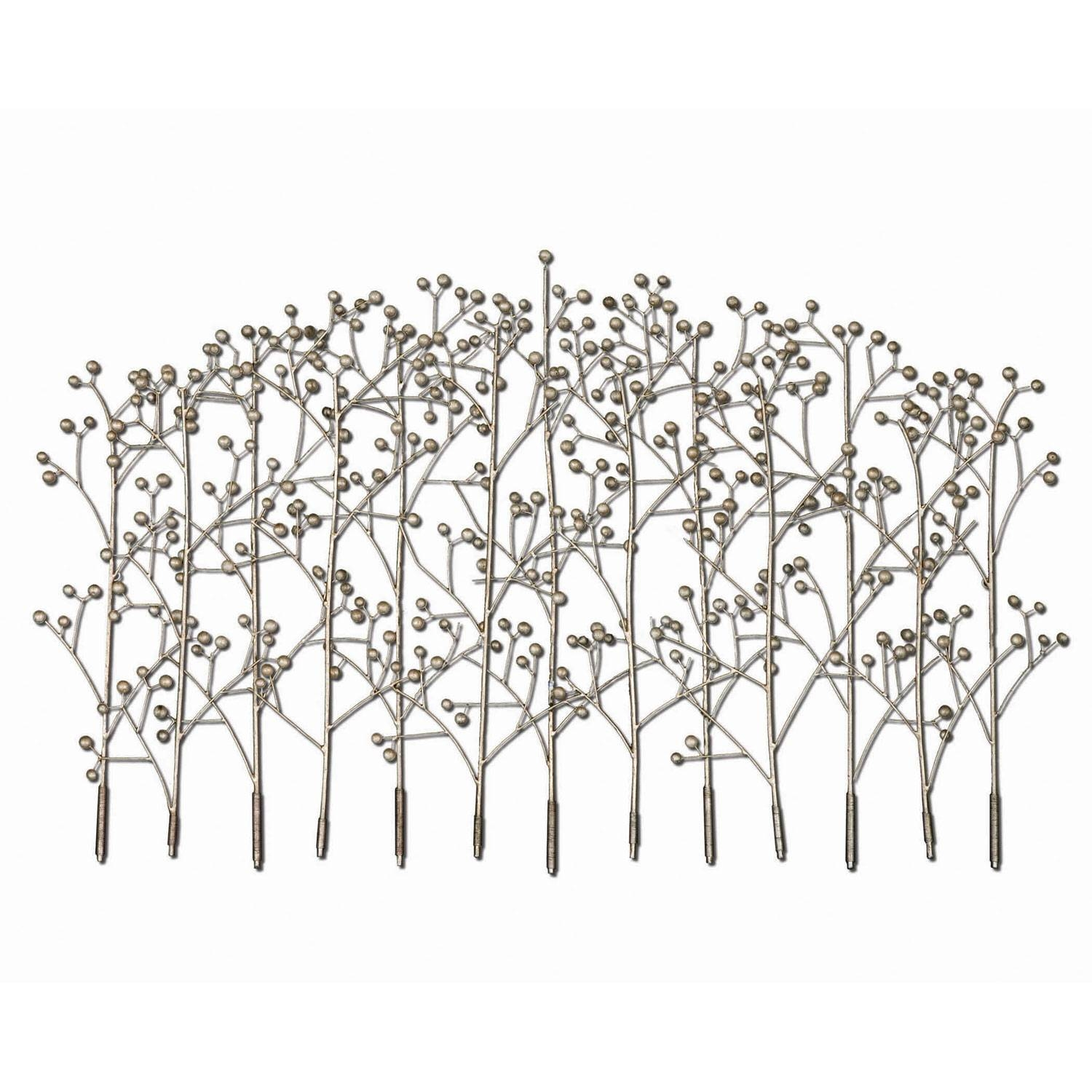 Iron Trees Metal Wall Art Uttermost Wall Sculpture Wall Decor Home With Current White Metal Wall Art (View 6 of 20)
