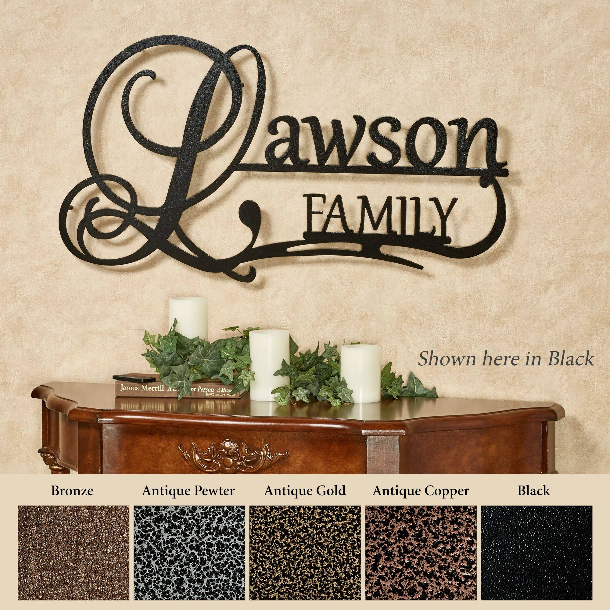 Jasonw Studios Personalized Wall Art Signs | Touch Of Class With Current Personalized Metal Wall Art (View 7 of 20)
