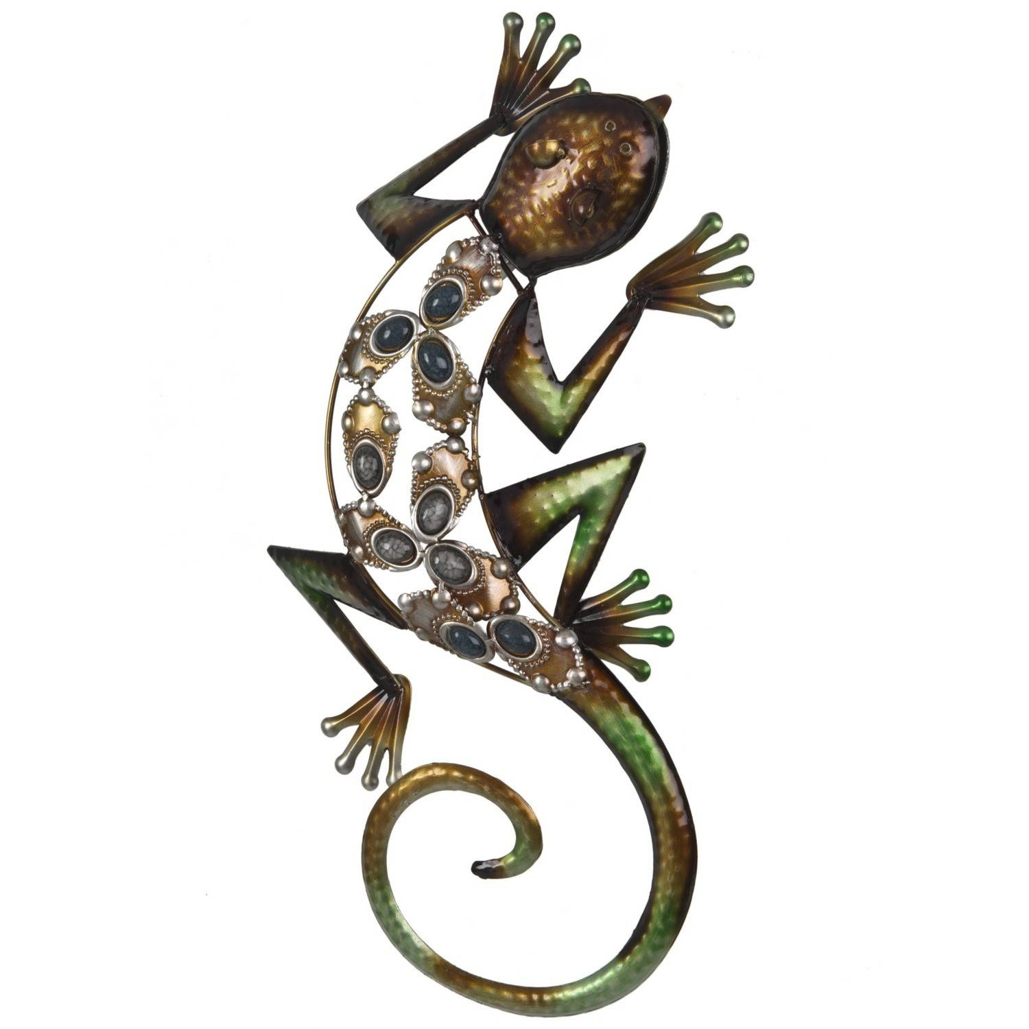 Jewelled Lizard Wall Art In Most Recently Released Gecko Metal Wall Art (Gallery 13 of 20)