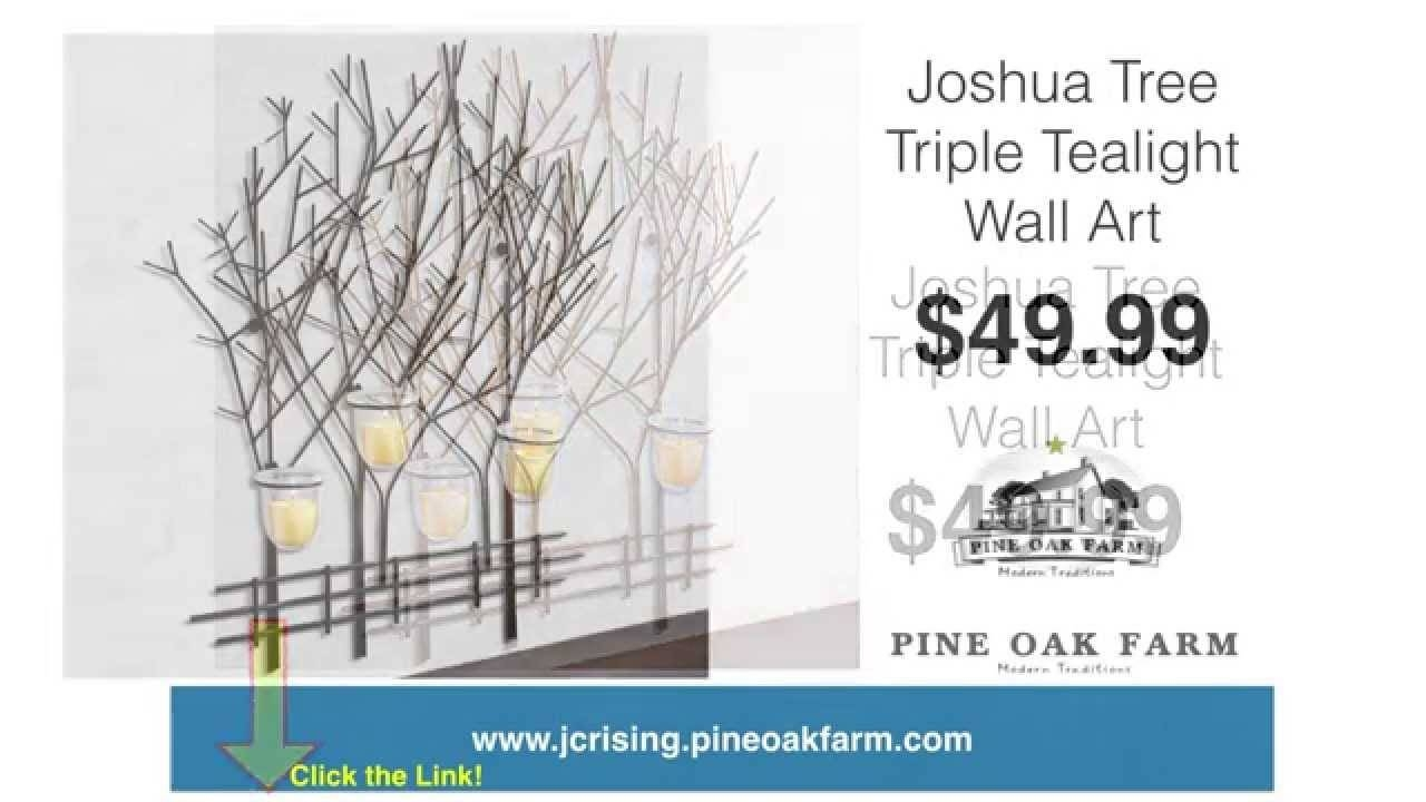 Joshua Tree Triple Tealight Wall Art | Metal Wall Art | Votive With Latest Metal Wall Art With Candles (View 7 of 20)