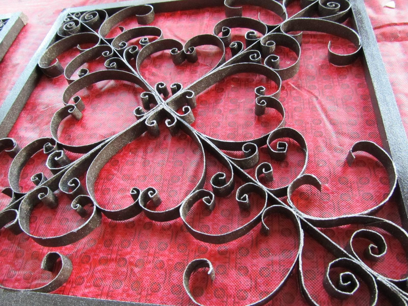 Keep Calm & Diy: Faux Wrought Iron Toilet Paper Roll Art For Most Recently Released Faux Metal Wall Art (View 12 of 20)