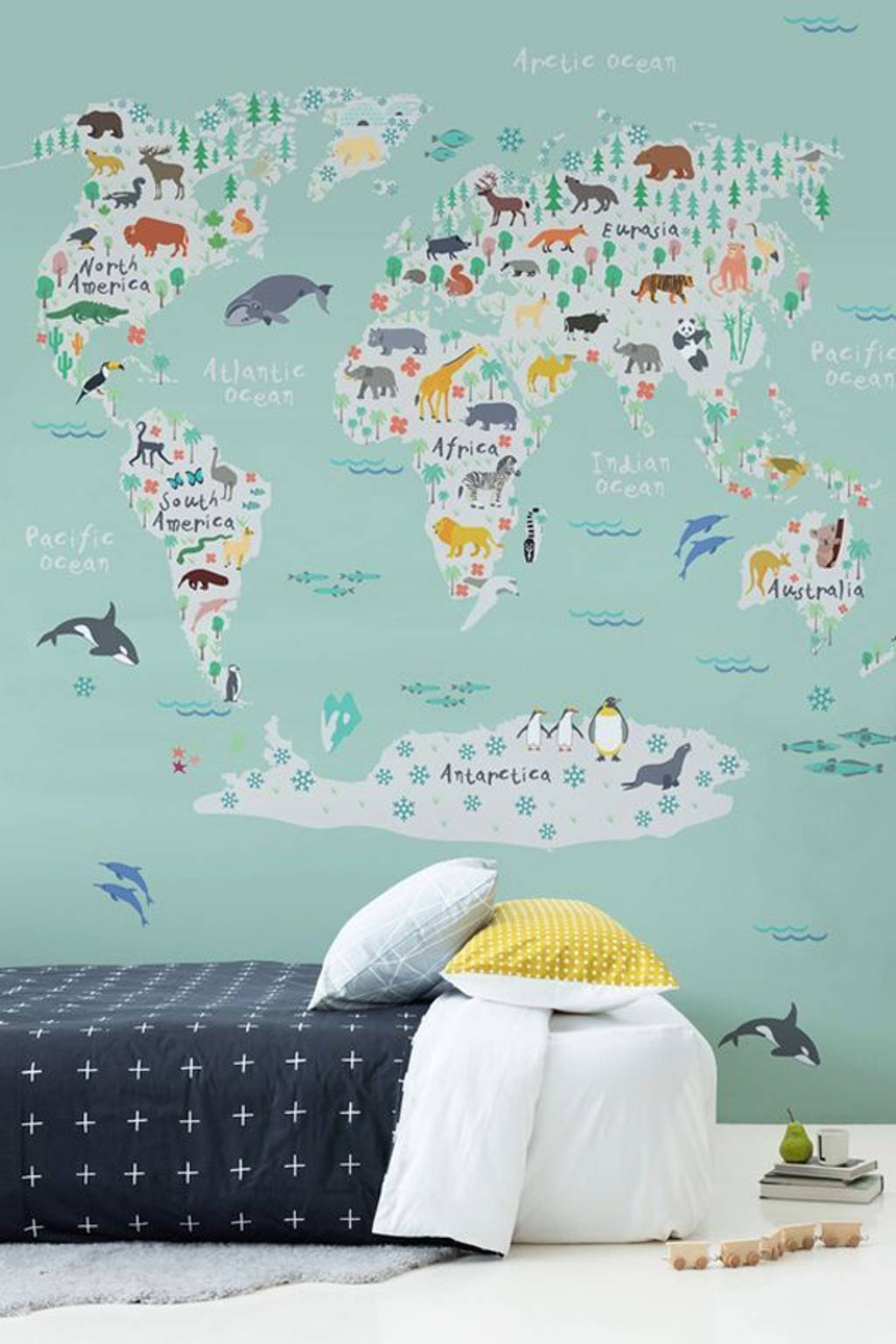 Kids Room: World Map Painting Ideas For Kids Wall – 18 Awesome In 2017 Kids World Map Wall Art (View 6 of 20)