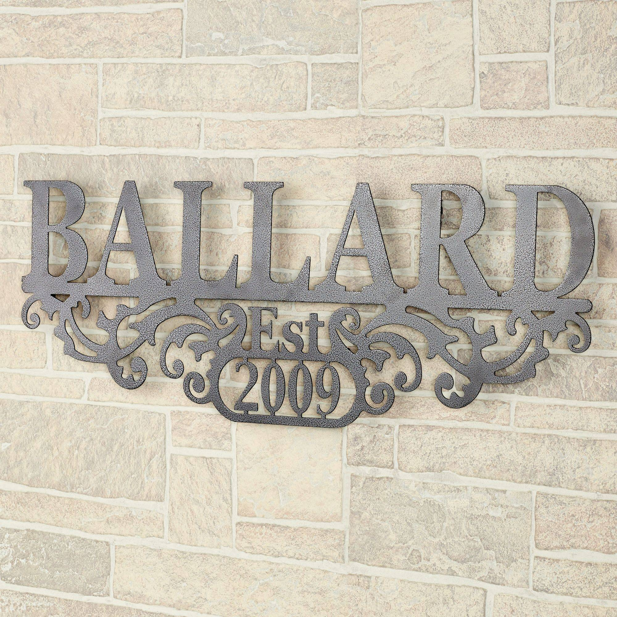 Kinship Pewter Family Name And Year Personalized Metal Wall Art Sign Pertaining To Most Recently Released Personalized Metal Wall Art (View 10 of 20)