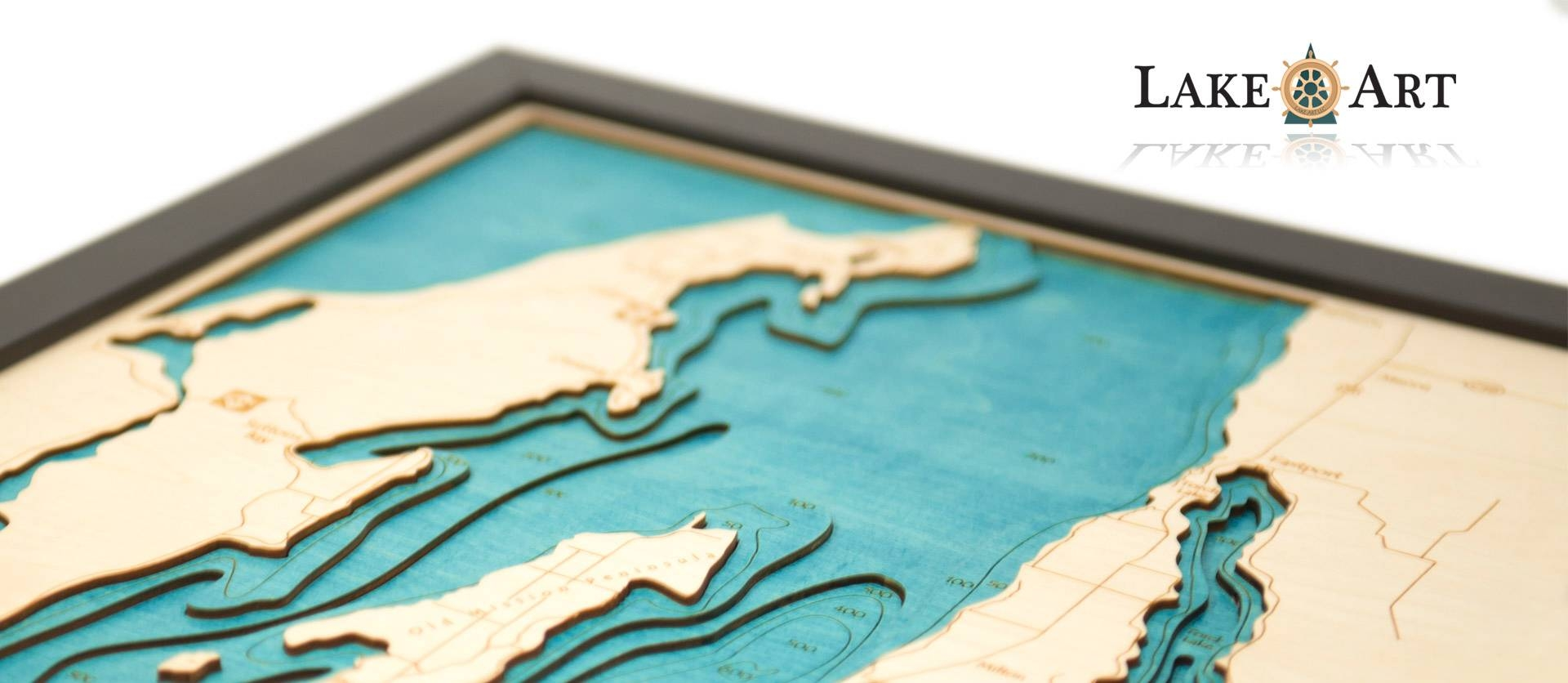 Lake Art – Original, Authentic, 100% Made In America Intended For Current Lake Map Wall Art (View 6 of 20)