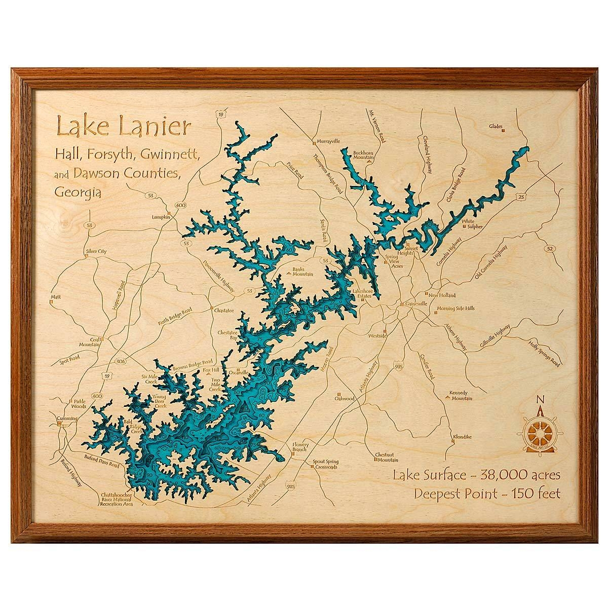 Lake Topography Art | Hand Crafted Lake Map Topography Art Throughout 2017 Lake Map Wall Art (View 6 of 20)