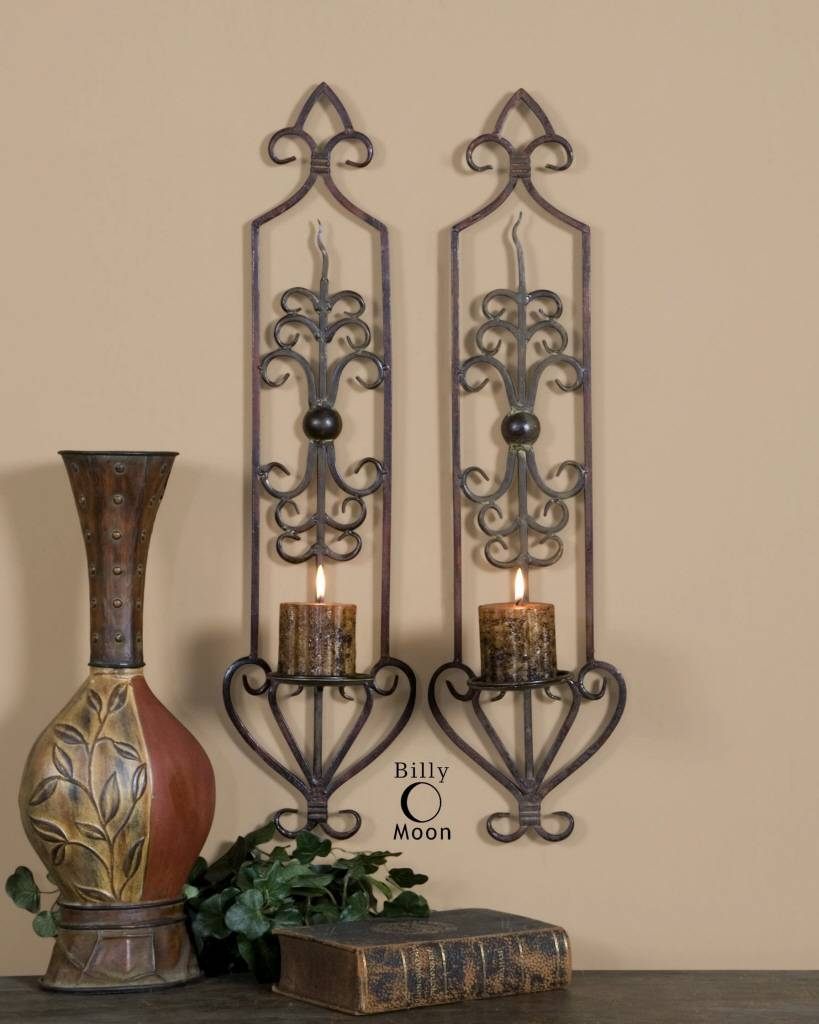 Lamp : Tea Light Sconce Candle Wall Art Decor Wall Votive Holder In Most Up To Date Metal Wall Art With Candle Holders (View 9 of 20)