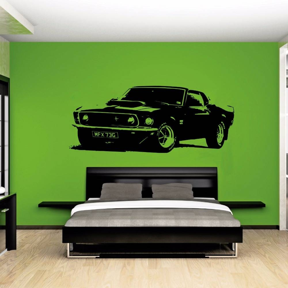 Large Car Sticker For Ford Mustang 1969 Muscle Classic Wall Art With Most Up To Date Ford Mustang Metal Wall Art (View 8 of 20)