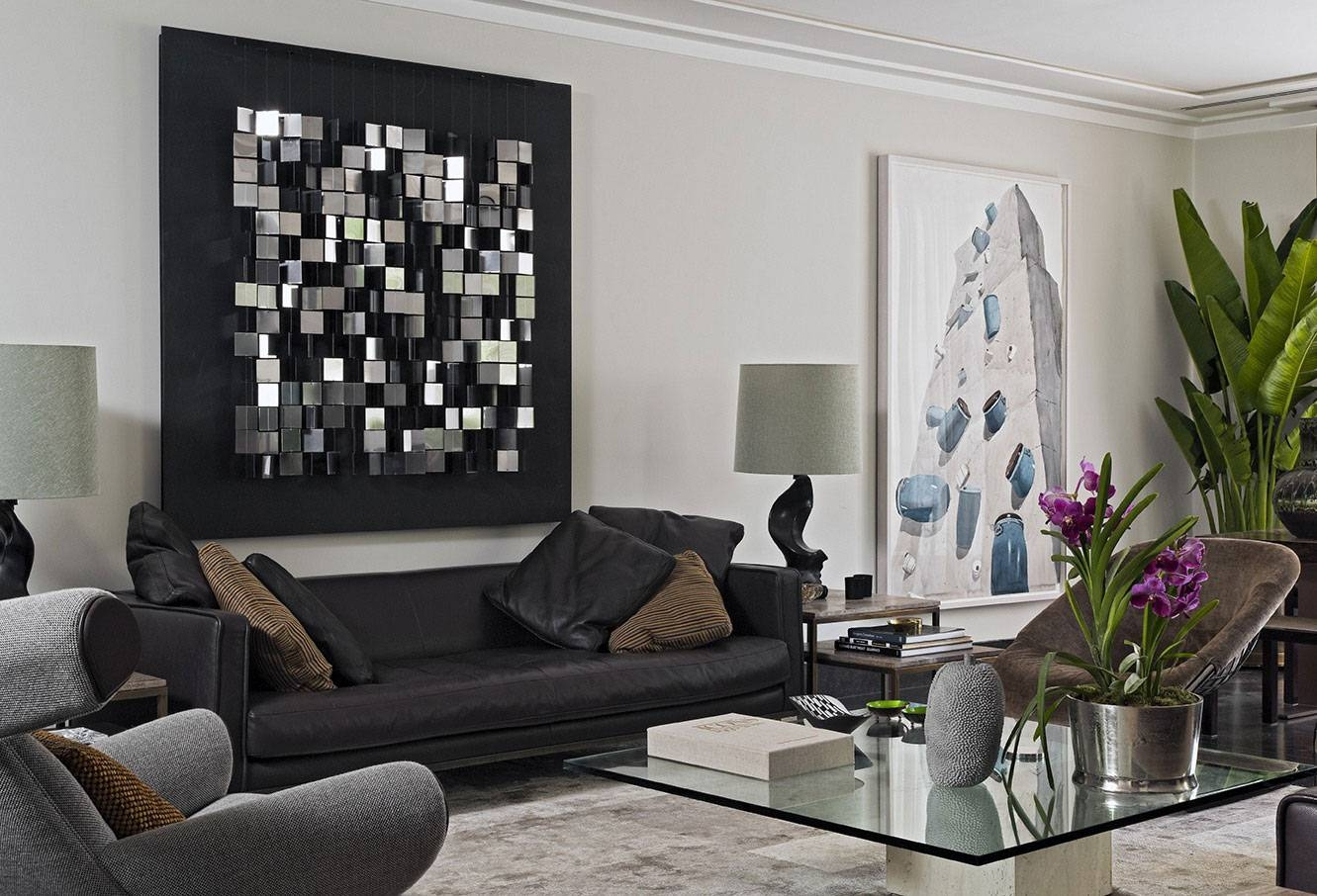Large Living Room Wall Design Ideas Abstract Metal Wall Art Office Pertaining To 2017 Metal Wall Art For Living Room (View 16 of 20)