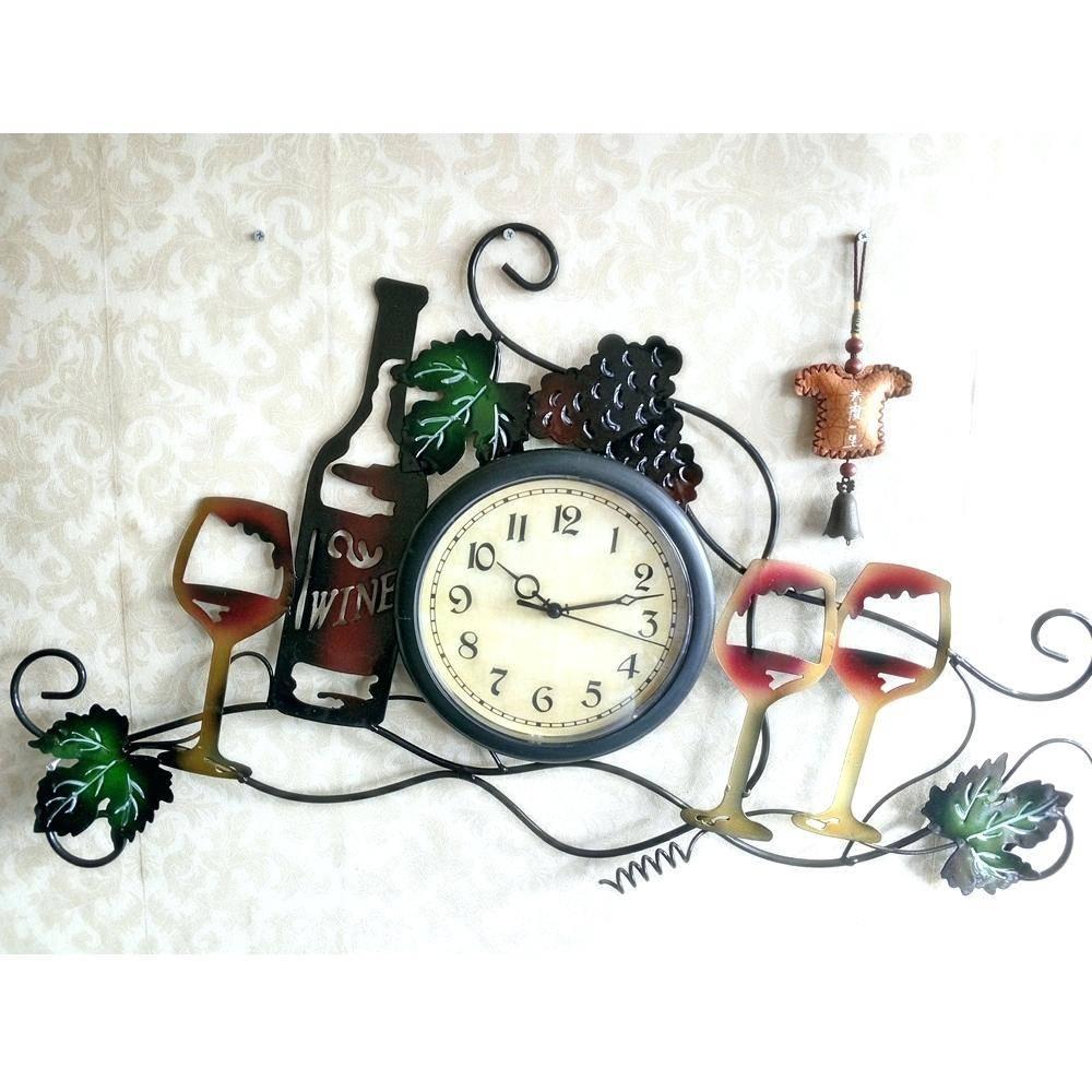 Large Metal Wall Art Clocks – Philogic (View 13 of 20)