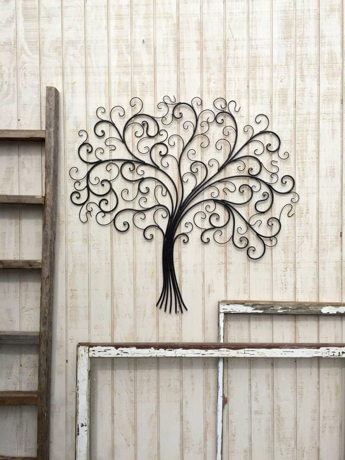 Large Metal Wall Art Metal Wall Decor Tree Wall Art Metal For Recent Large Metal Wall Art And Decor (View 7 of 20)