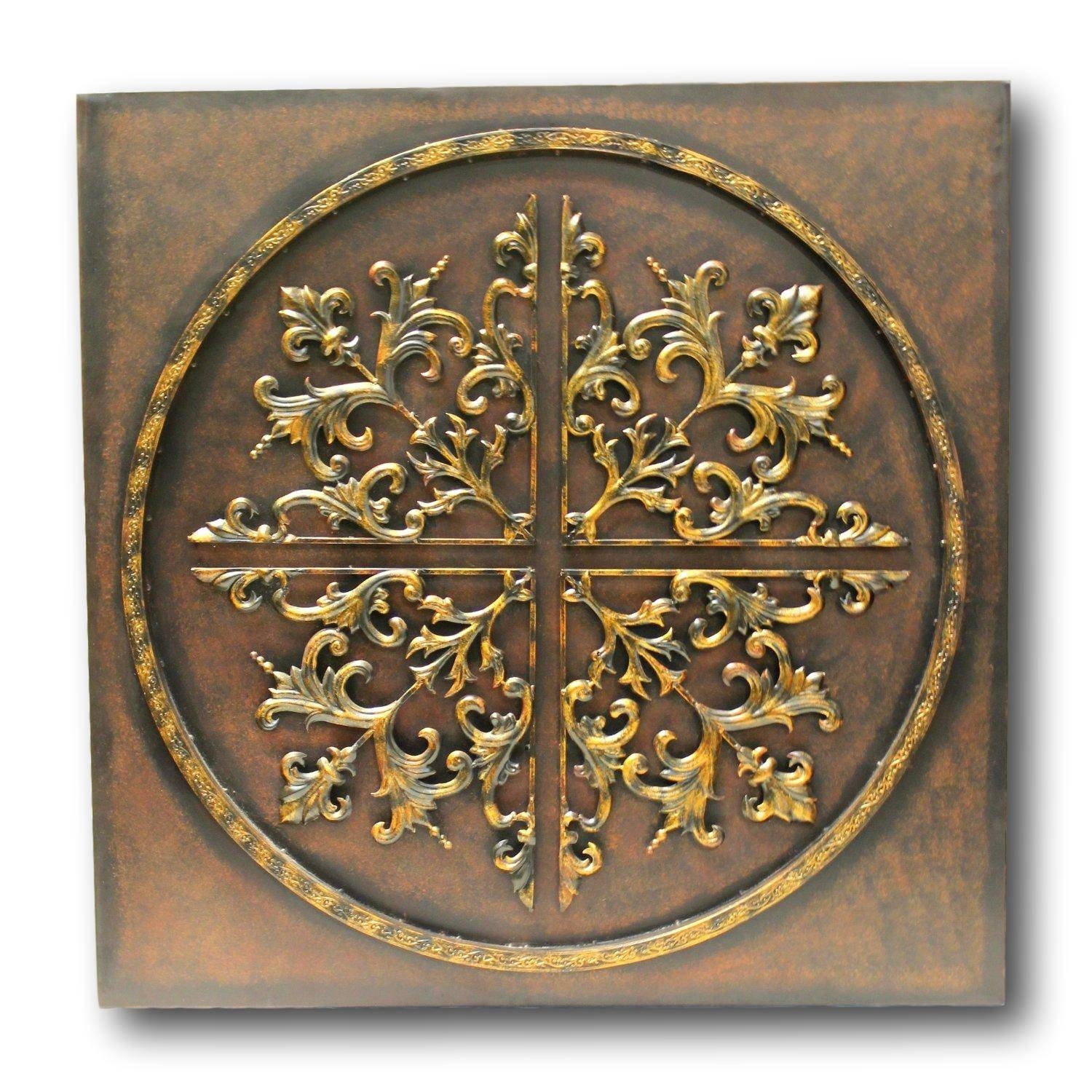 Large Metal Wall Art | Upscale Consignment Intended For 2017 Brown Metal Wall Art (View 18 of 20)