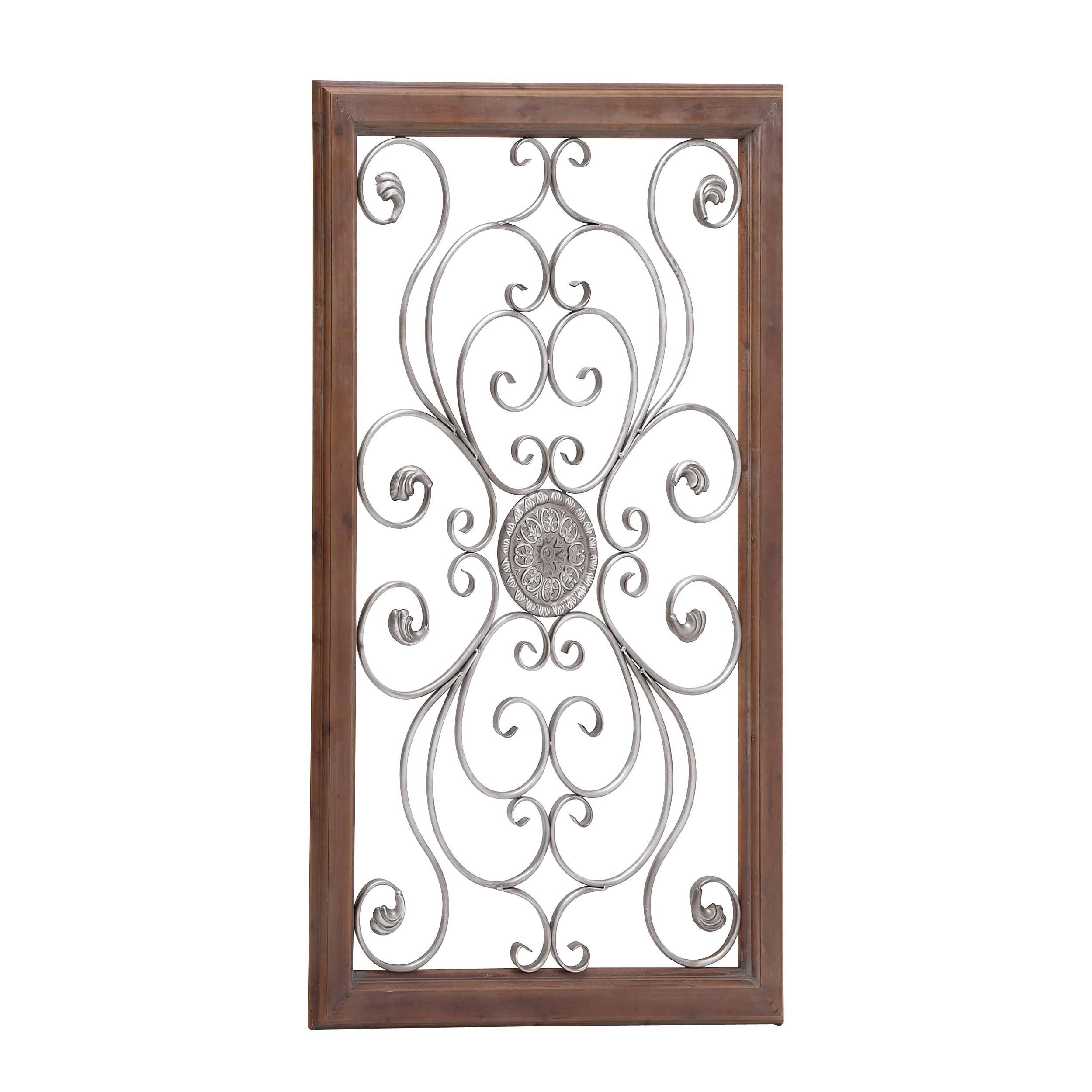 Large Metal Wall Decor | Roselawnlutheran In Most Recently Released Scrolled Metal Wall Art (View 8 of 20)