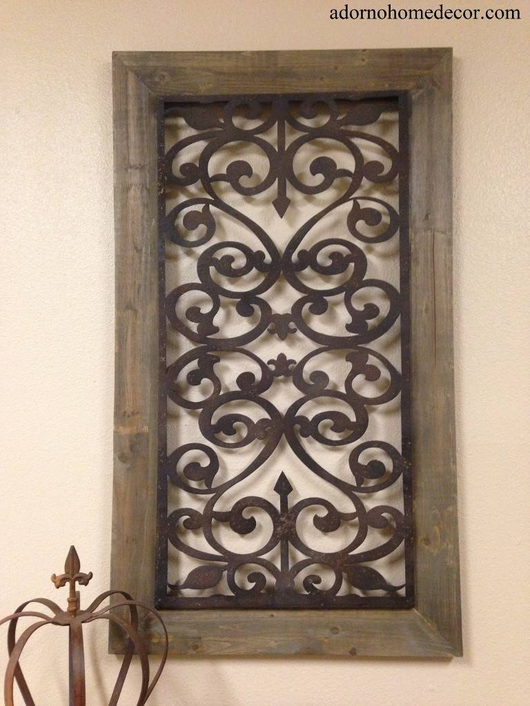Large Metal Wood Wall Panel Antique Vintage Rustic Chic Industrial In Latest Large Metal Wall Art Decor (View 7 of 20)