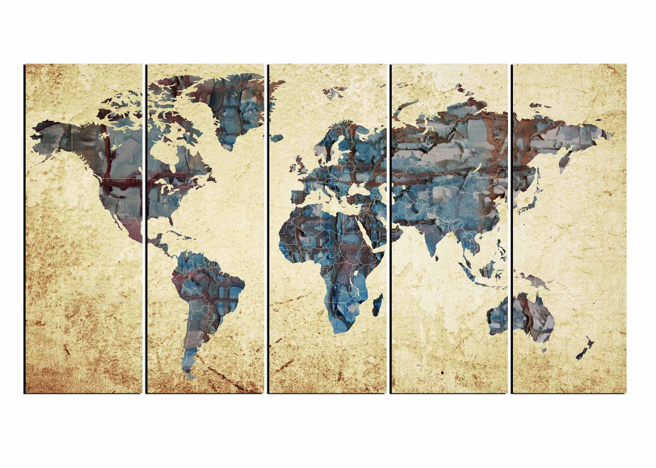 Large World Map,world Map Abstract, Map Wall Art, World Map Inside 2017 Large World Map Wall Art (View 9 of 20)