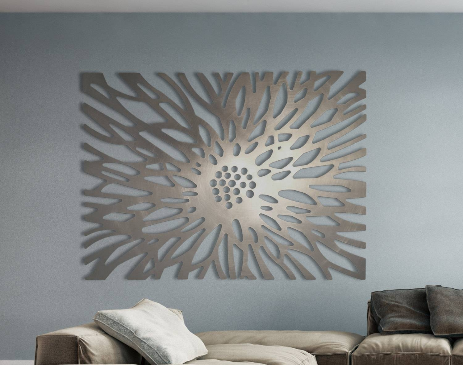 Laser Cut Metal Decorative Wall Art Panel Sculpture For Home For Most Current Laser Cut Metal Wall Art (Gallery 1 of 20)