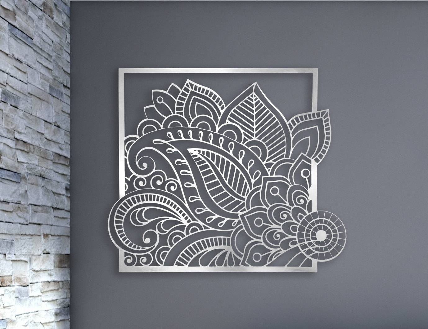 Laser Cut Metal Decorative Wall Art Panel Sculpture For Home Pertaining To Most Recent Laser Cut Metal Wall Art (View 7 of 20)