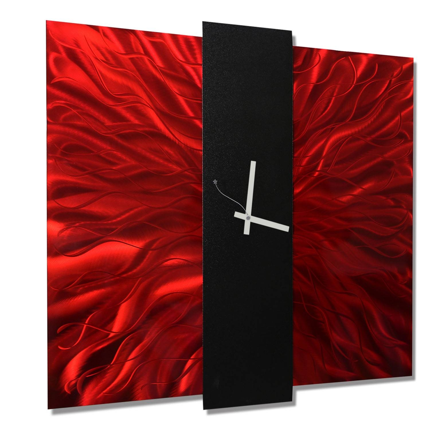 Featured Photo of Red and Black Metal Wall Art