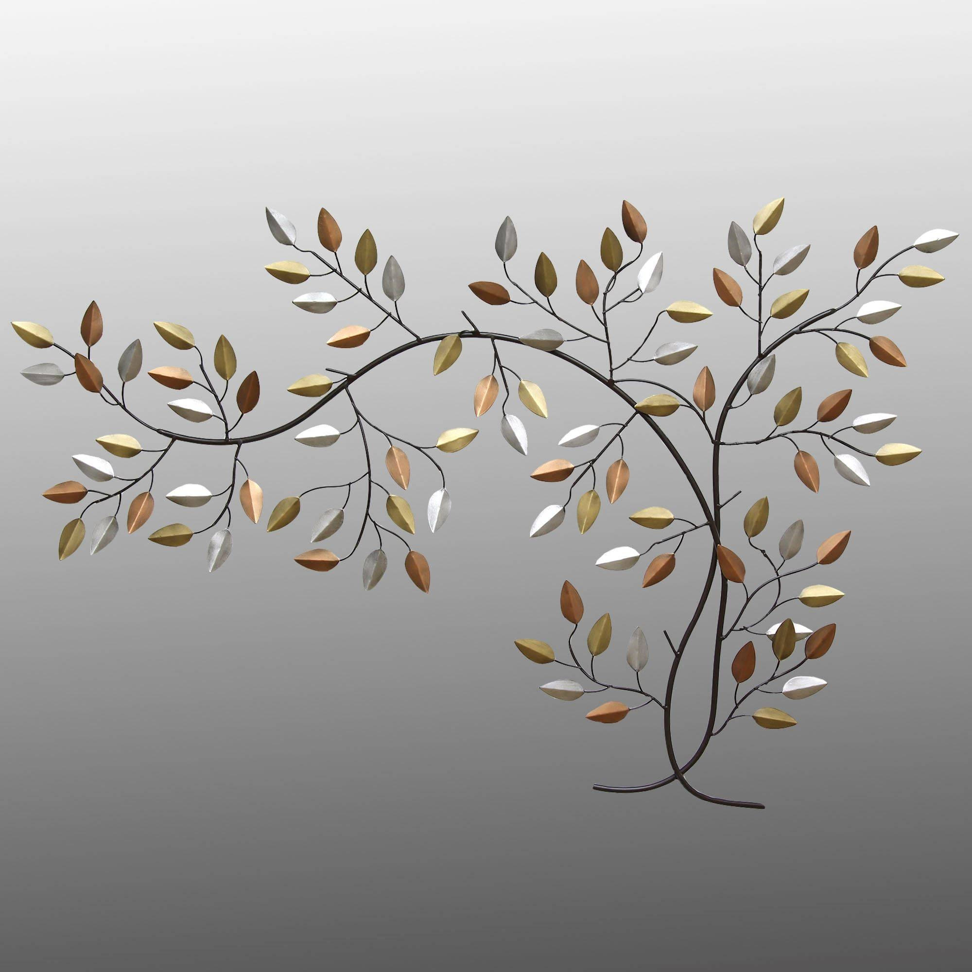 Leaf Branch Metal Wall Art Pertaining To Most Recent Branch Metal Wall Art (View 10 of 20)