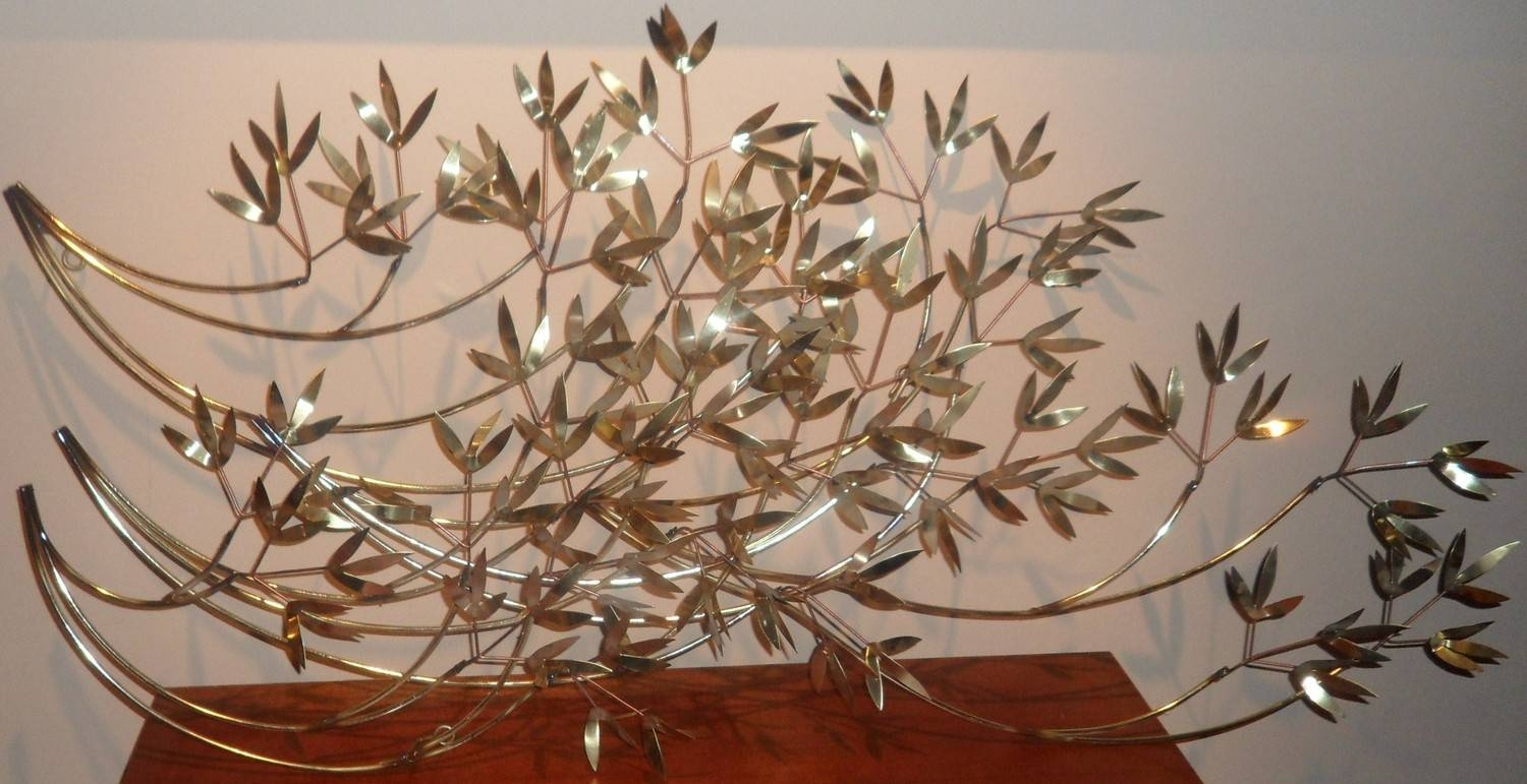 Leaf Metal Wall Decor With Vintage Huge Metal Wall Art Leaf Branch Intended For Latest Huge Metal Wall Art (View 13 of 20)