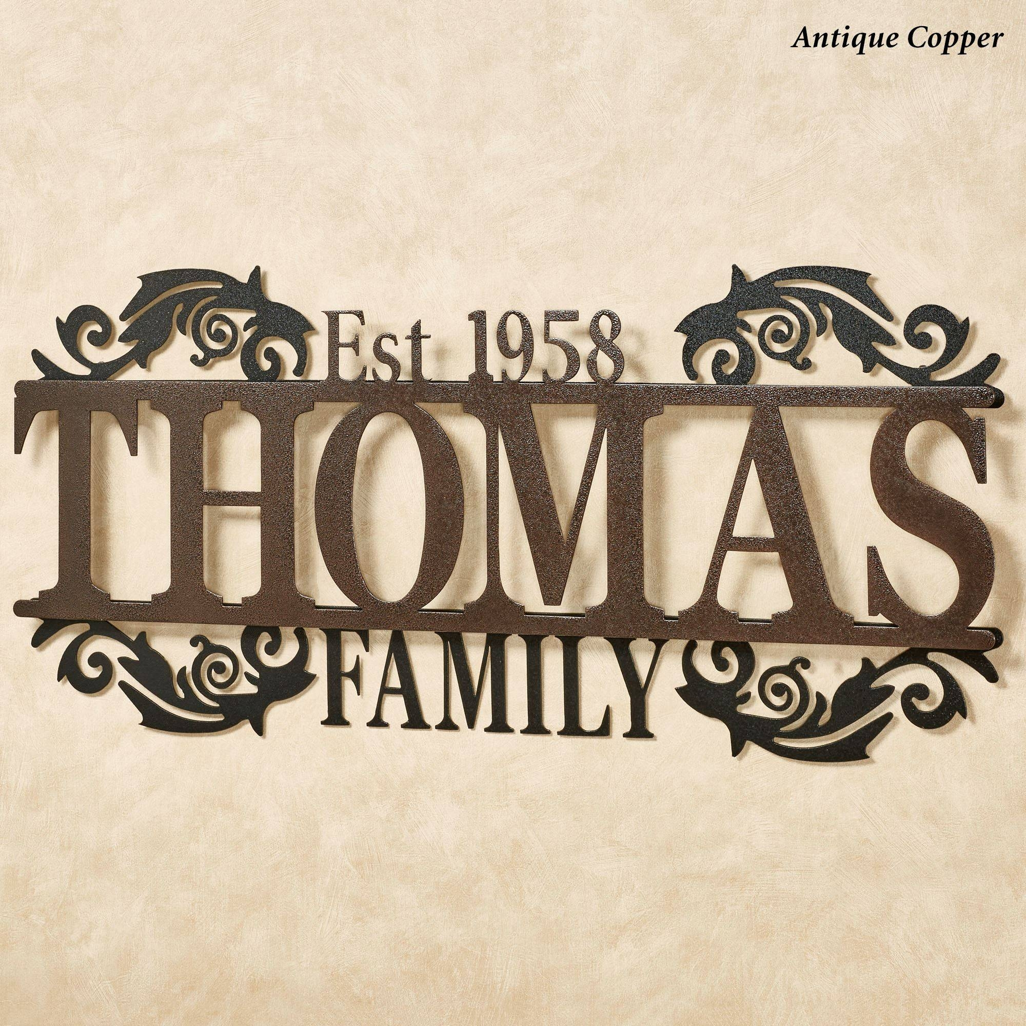 Legacy Family Established Year Personalized Metal Wall Art Sign Inside Latest Personalized Metal Wall Art (View 12 of 20)