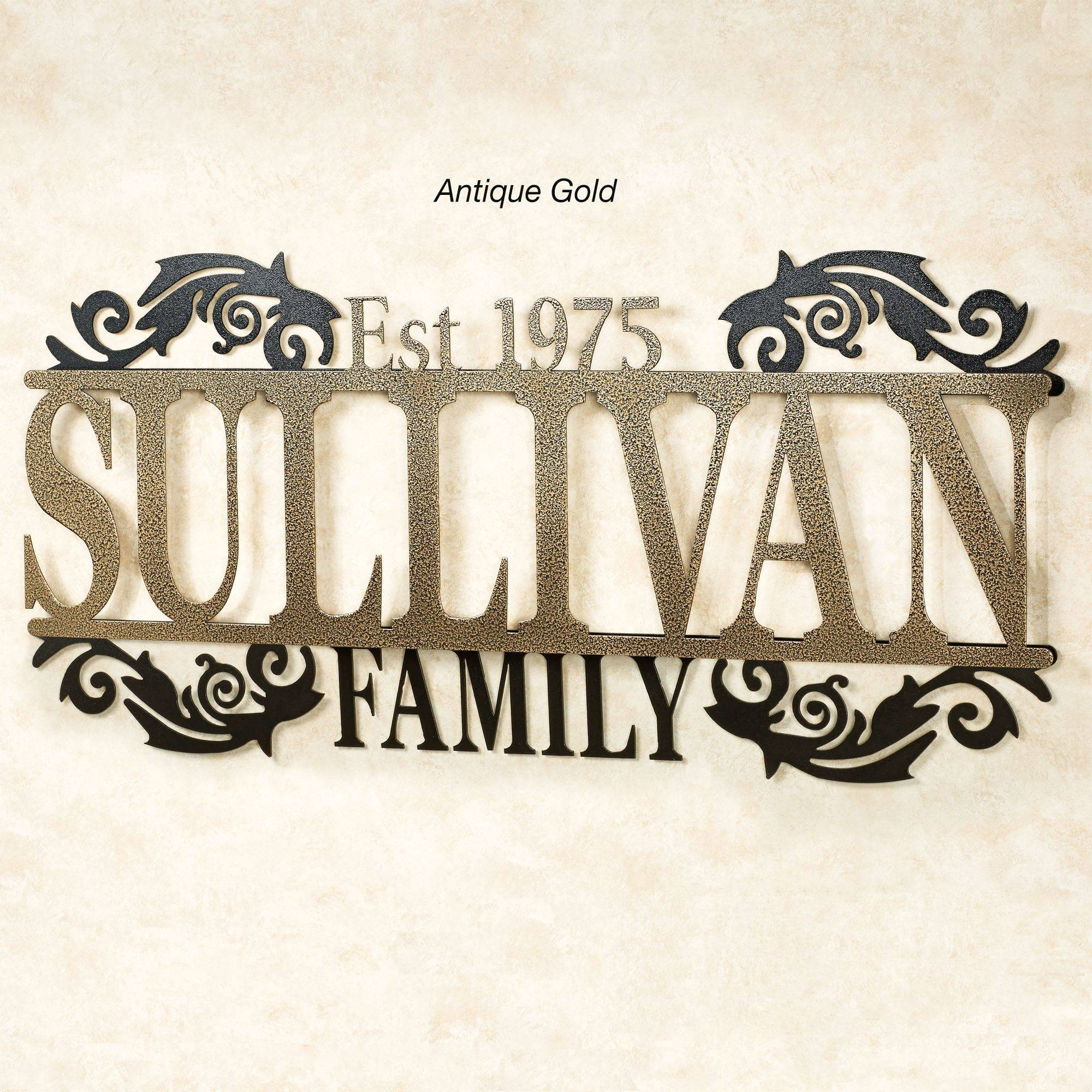 Legacy Family Established Year Personalized Metal Wall Art Sign With Most Up To Date Personalized Metal Wall Art (View 18 of 20)