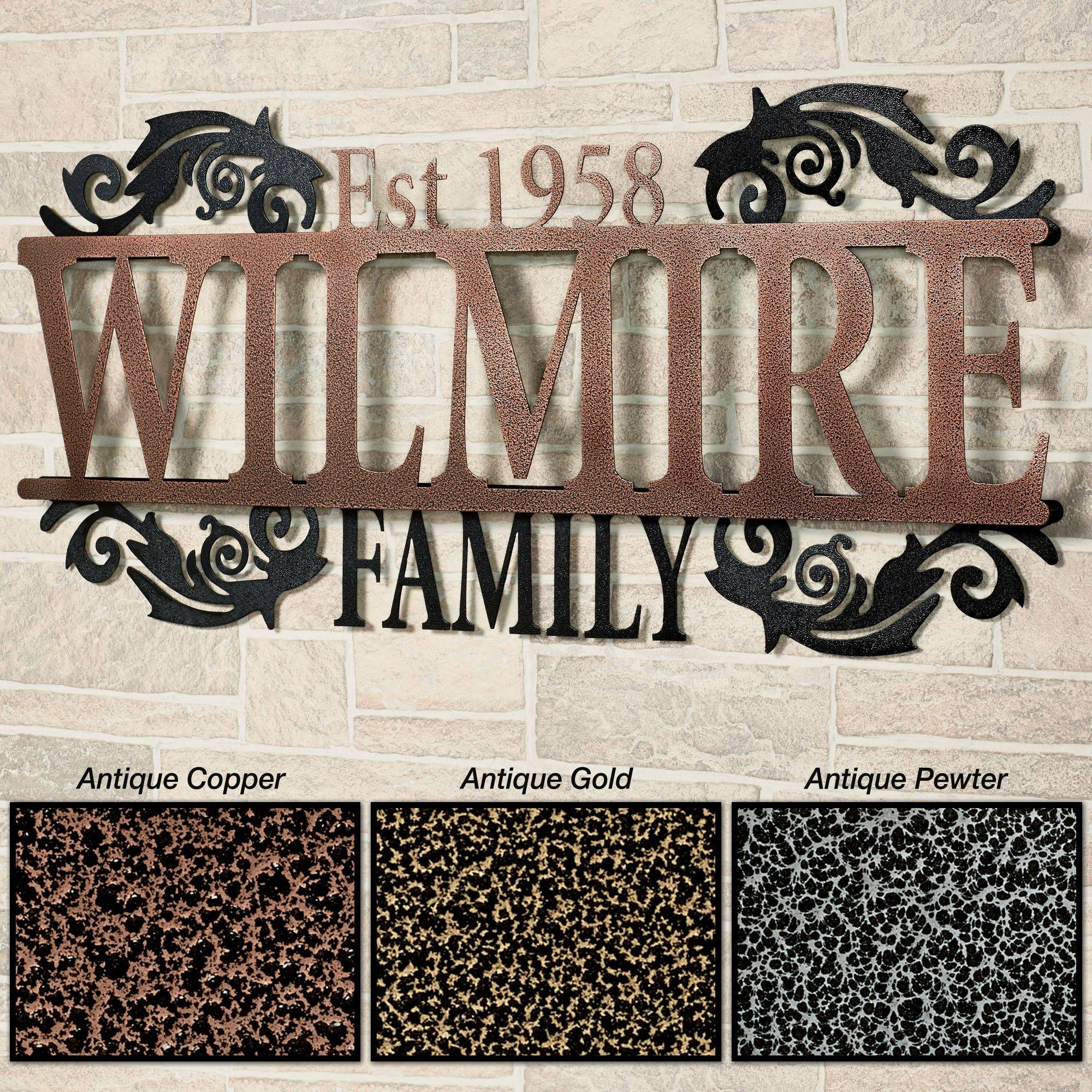 Legacy Family Established Year Personalized Metal Wall Art Sign With Regard To Most Recently Released Personalized Metal Wall Art (View 15 of 20)