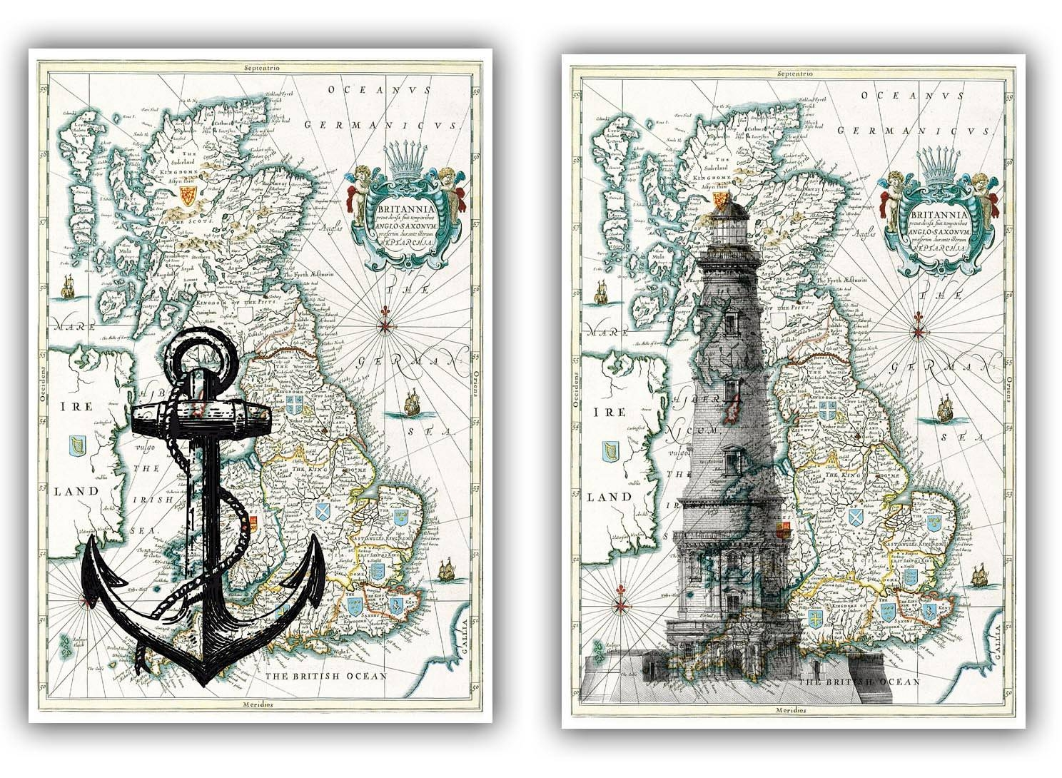 20 Inspirations of Nautical Map Wall Art