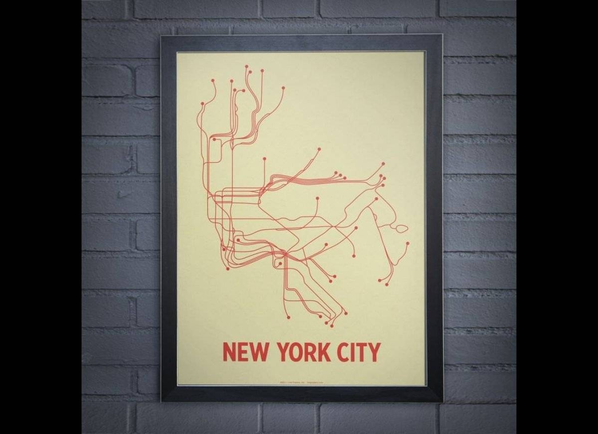 Lineposters: Subway Maps Of Cities Around The World (photos Inside Most Up To Date New York Subway Map Wall Art (Gallery 1 of 20)