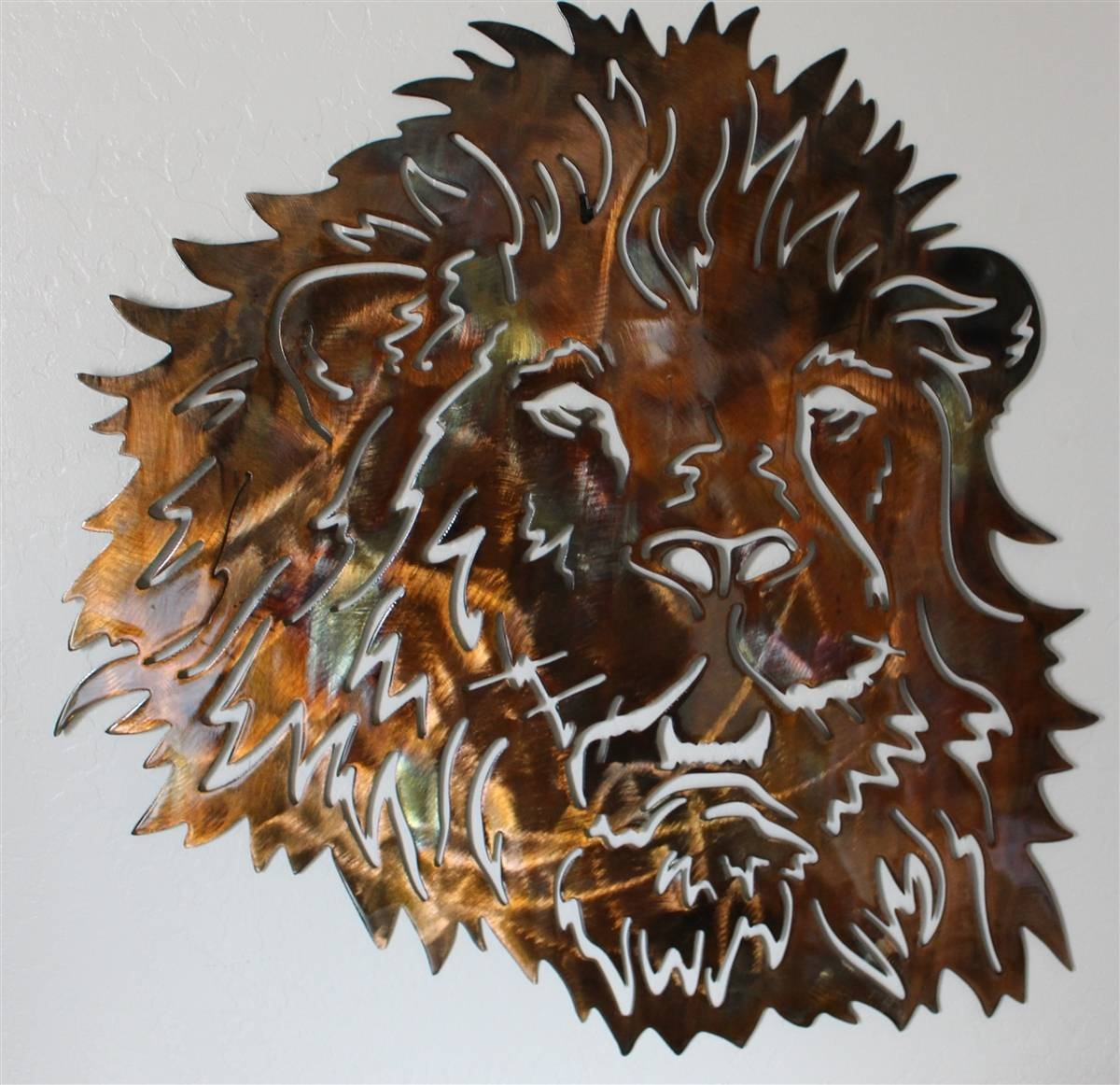 Lionhead 2 Pertaining To Most Up To Date Animal Metal Wall Art (View 3 of 20)