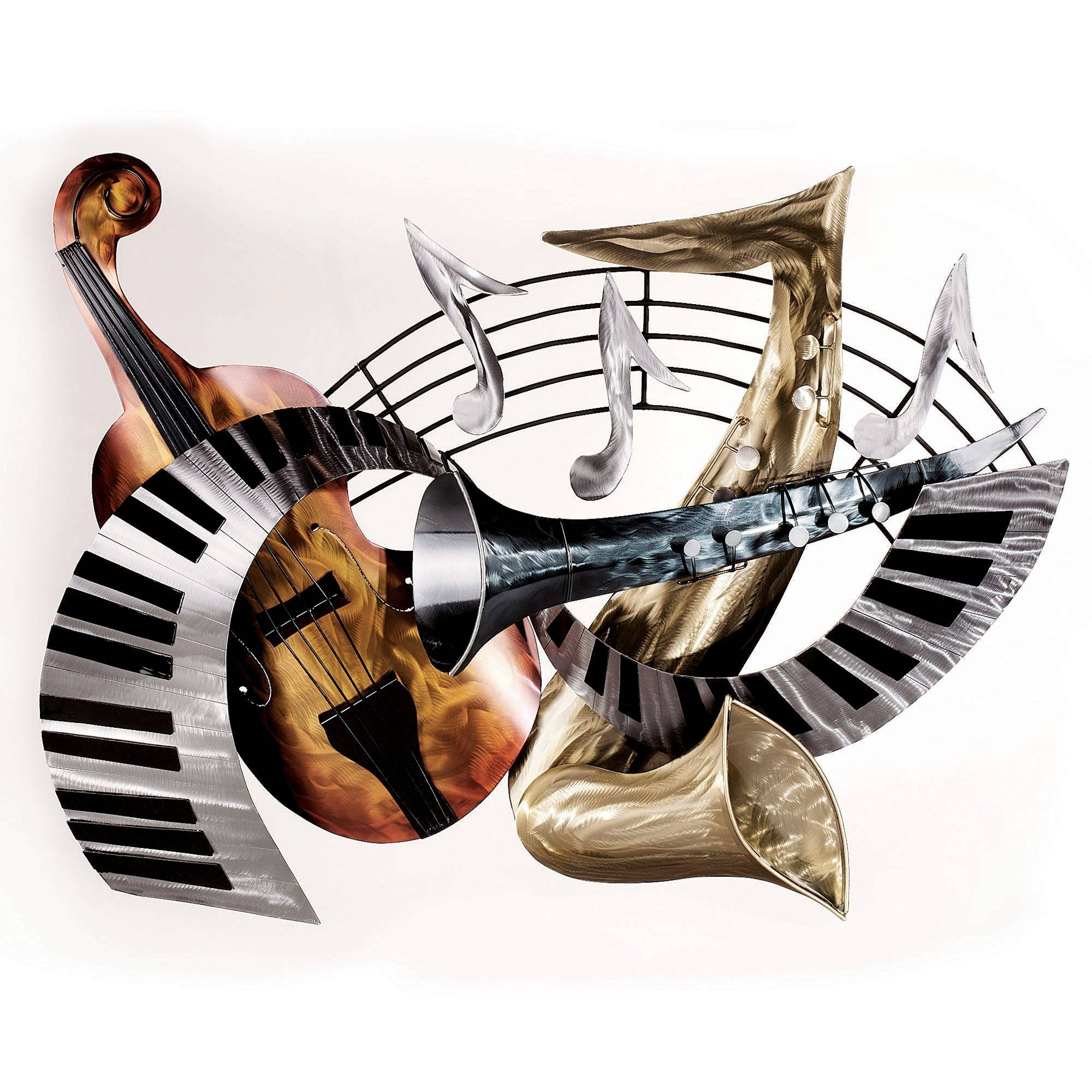 Live At The Lounge Metal Wall Sculpture With Regard To Most Popular Musical Instruments Metal Wall Art (View 4 of 20)