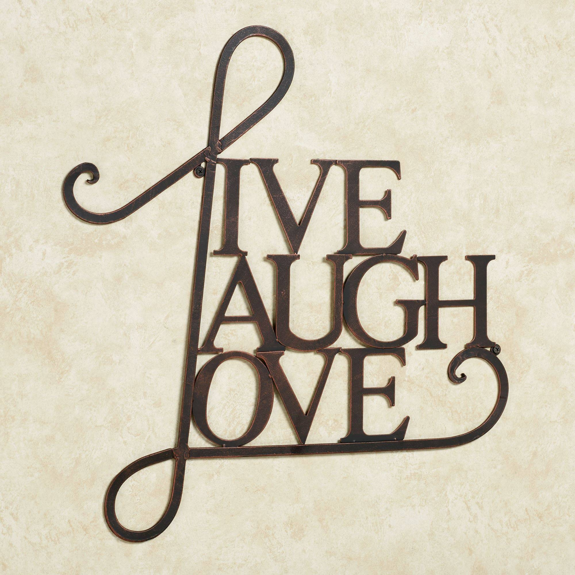 Featured Photo of Live Laugh Love Metal Wall Art