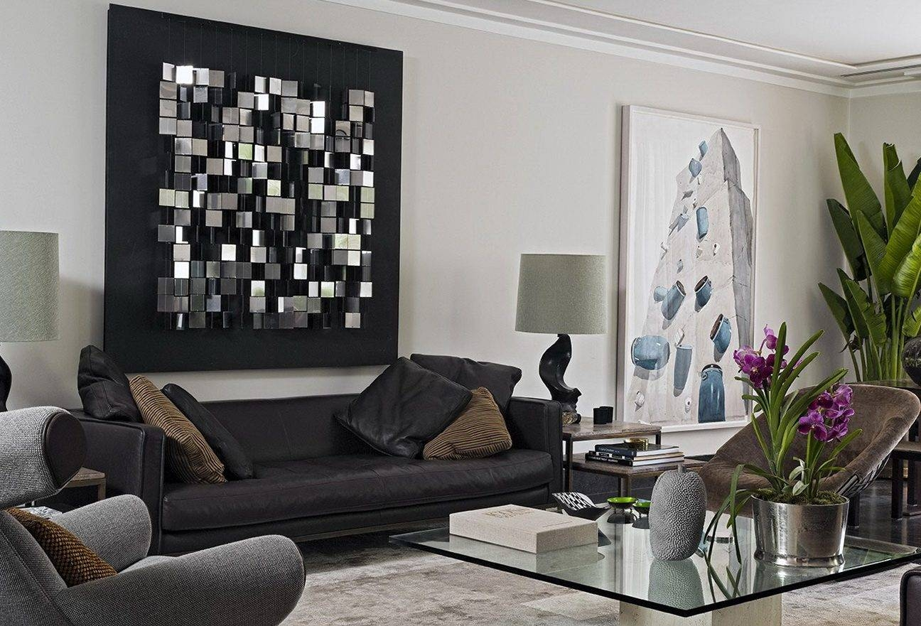 Living Room Metal Wall Art White Fabric Arms Sofa Cover Seeded Intended For Most Popular Metal Wall Art With Crystals (View 19 of 20)