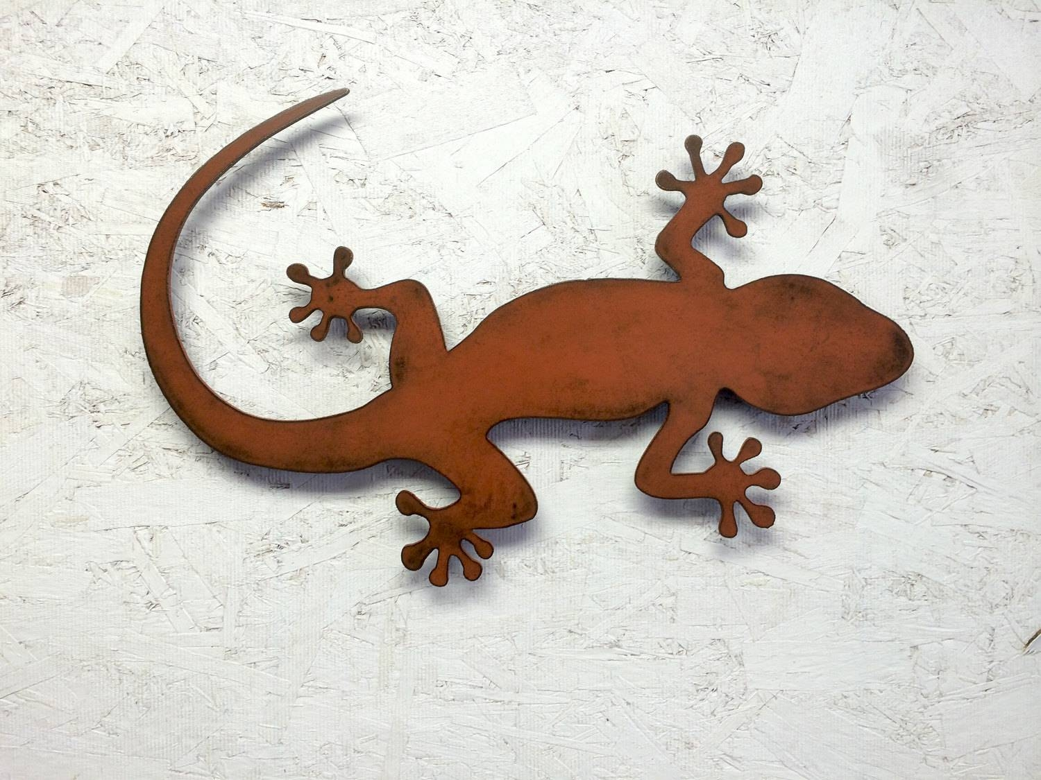 Lizard Gecko Metal Wall Art 36 Long X (View 11 of 20)
