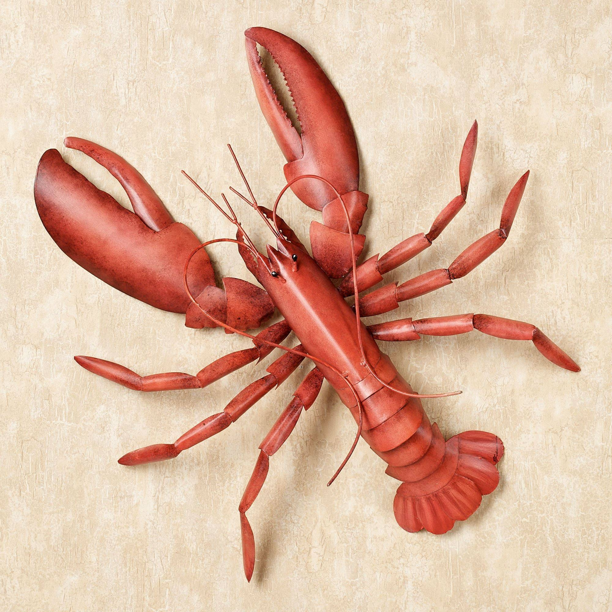 Lobster Fest Metal Wall Art With Regard To Most Recently Released Red Metal Wall Art (View 10 of 20)