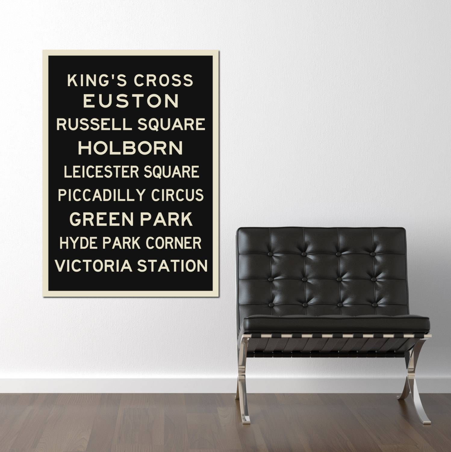 London Underground Art Typography Print Poster Travel With Regard To Most Current London Tube Map Wall Art (View 15 of 20)