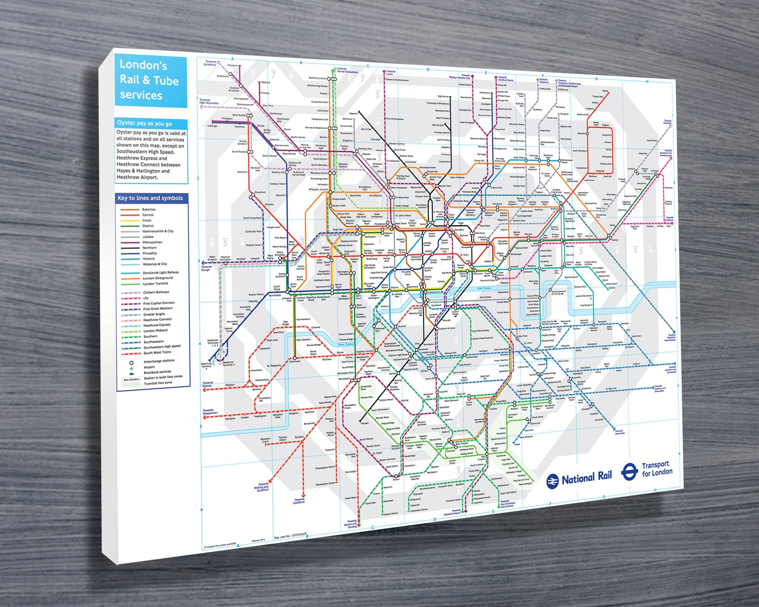 London Underground Map Wall Art – Canvas Prints Australia Pertaining To Most Popular Tube Map Wall Art (View 12 of 20)