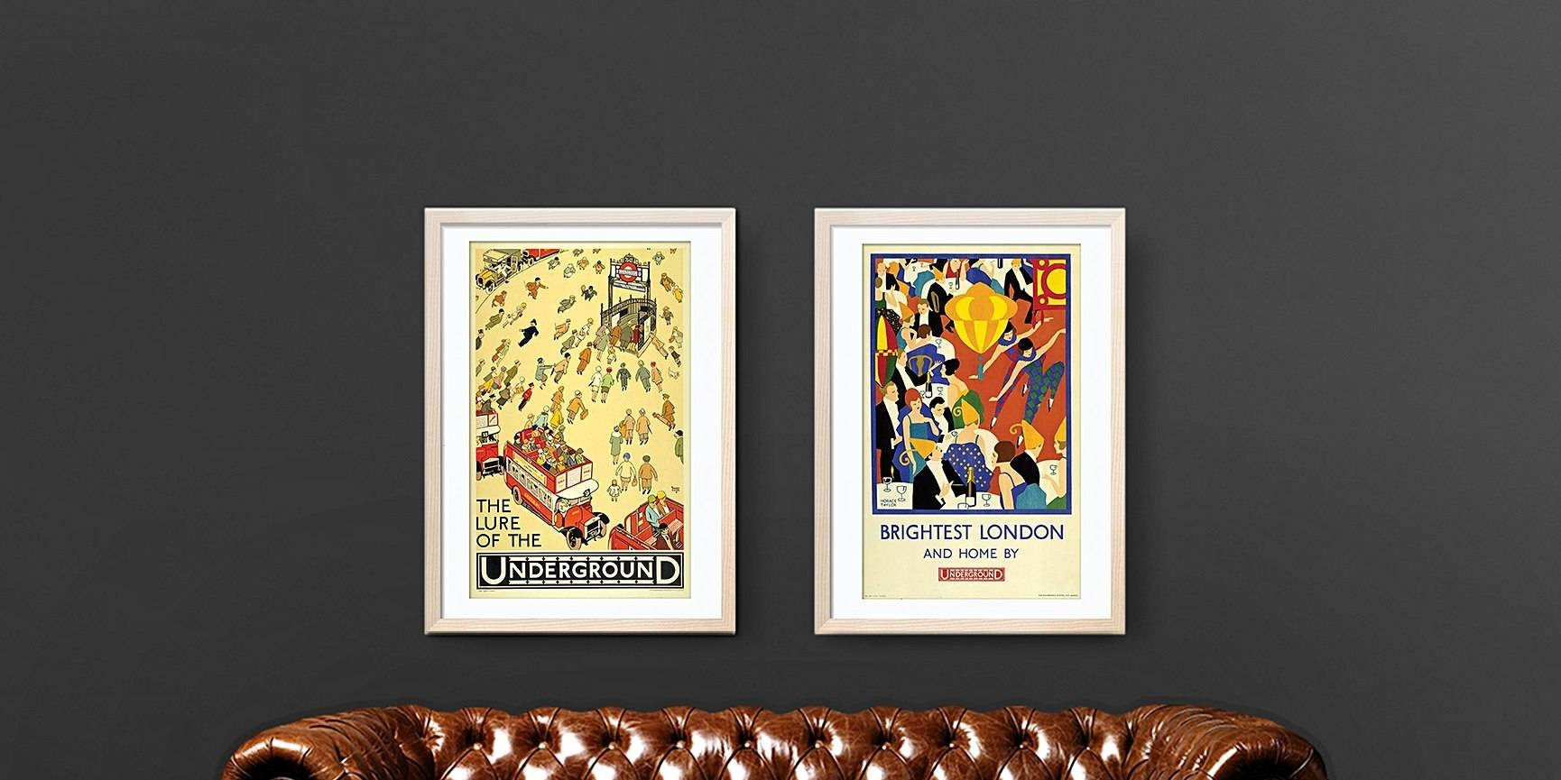 London Vintage And Retro Posters | London Transport Museum Shop Pertaining To Recent Tube Map Wall Art (View 14 of 20)