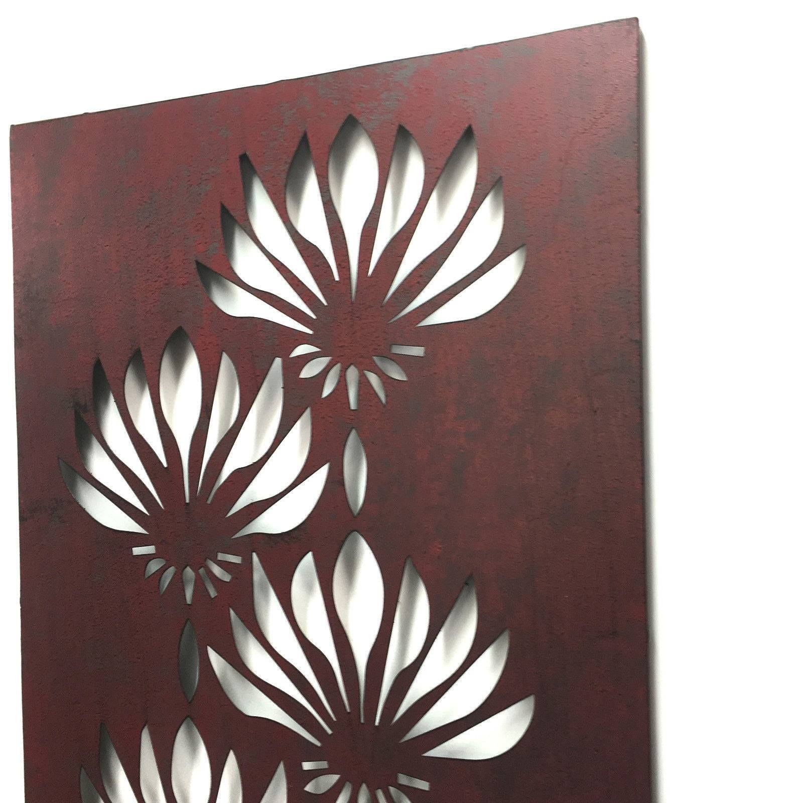 Lotus Flower Lasercut Metal Wall Art 80Cm Inside Latest Laser Cut Metal Wall Art (View 11 of 20)