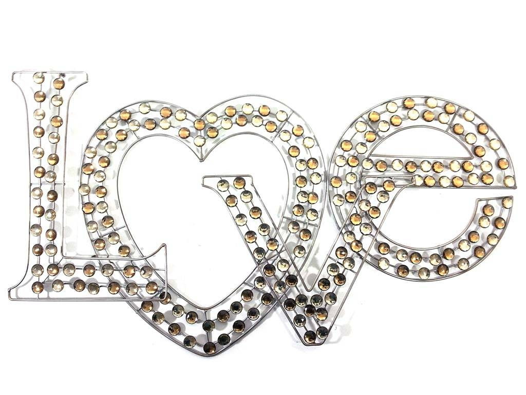 Love Crystal And Metal Wall Art | Wallartideas Throughout Latest Love Metal Wall Art (View 11 of 20)