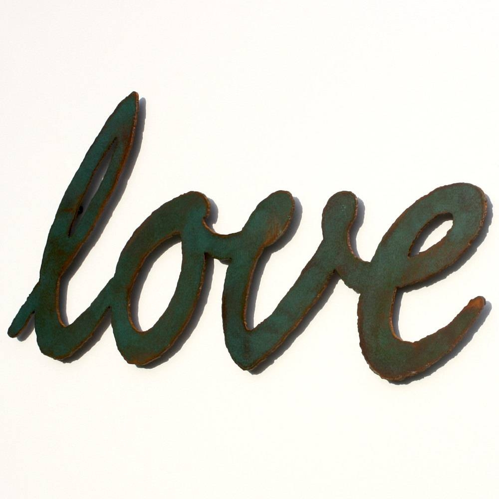 Love Metal Wall Art 20 1/2 Wide Metal Sign Script In Most Current Love Metal Wall Art (View 10 of 20)