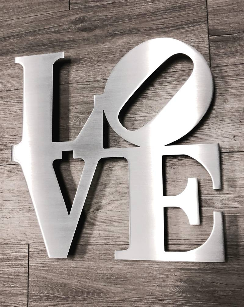 Love Metal Wall Art – Inspire Metals Throughout Most Up To Date Love Metal Wall Art (View 11 of 20)