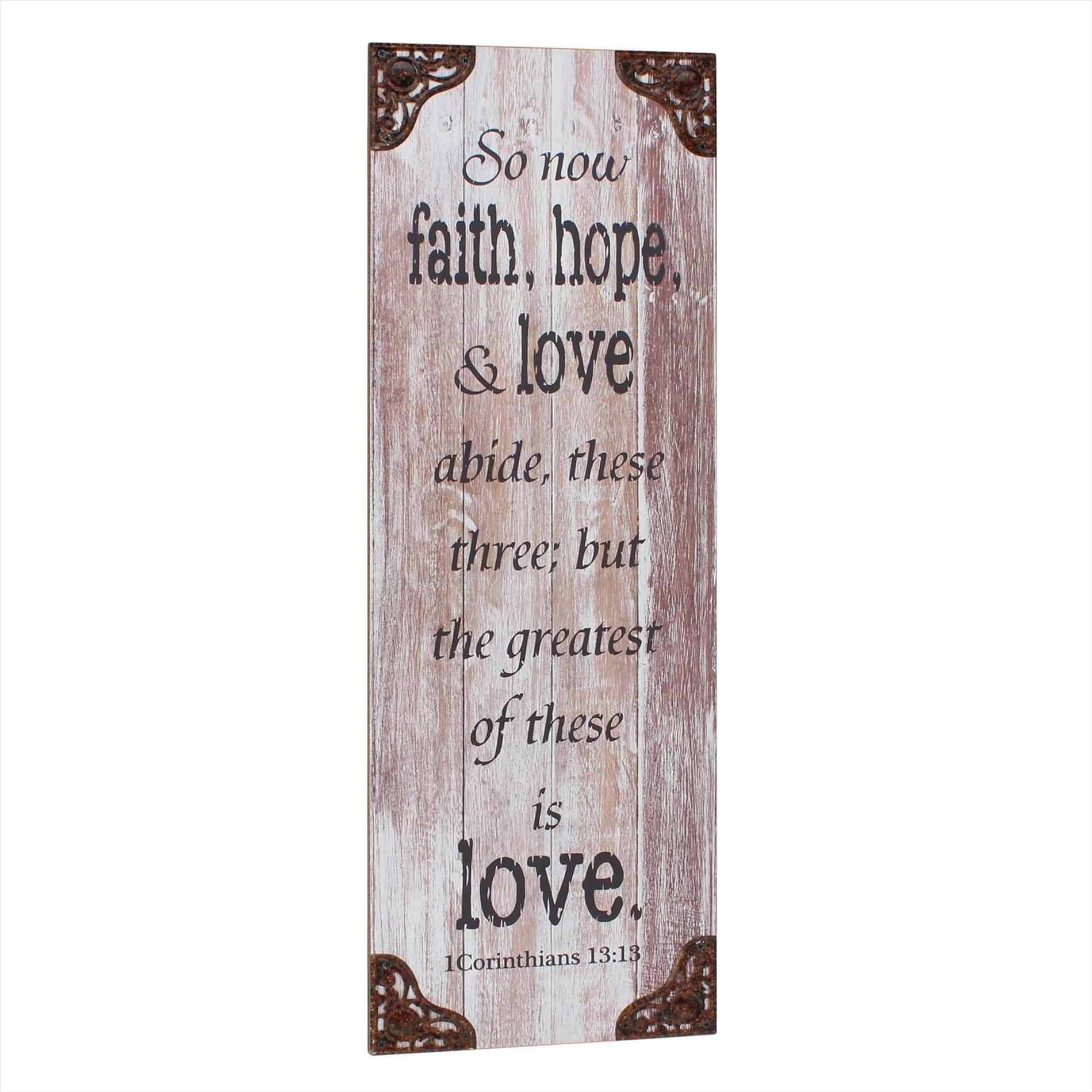 Love Metal Wall Art Personalized Thank You Gift For Parents Faith Regarding 2017 Faith Hope Love Metal Wall Art (View 10 of 20)