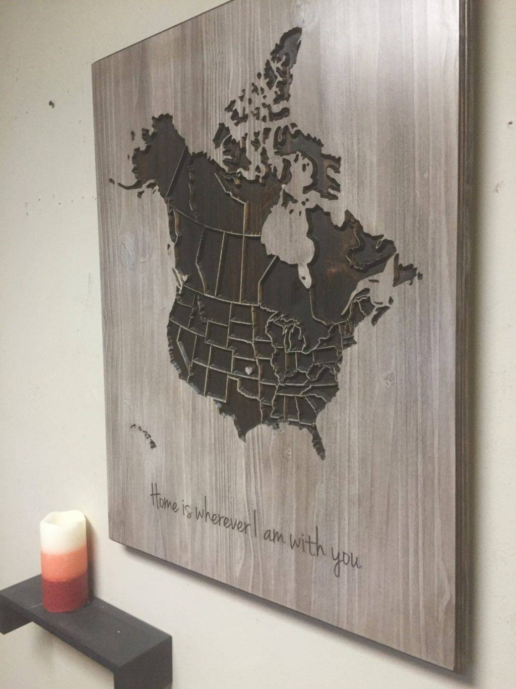 Featured Photo of Map Wall Art Canada