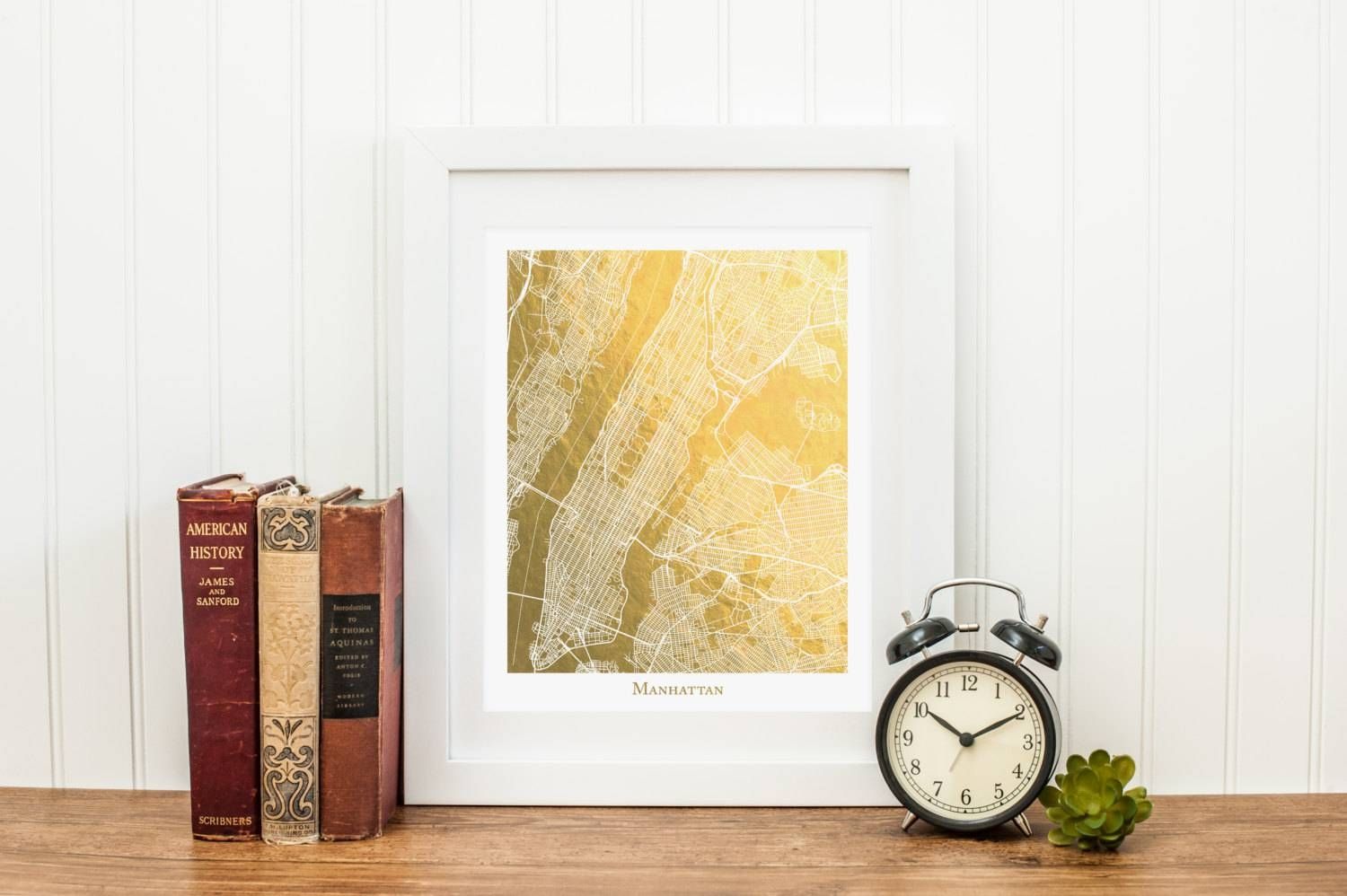 Manhattan Map Manhattan Gold Foil Map™ Map Print Gold Foil For Most Current Manhattan Map Wall Art (View 2 of 20)