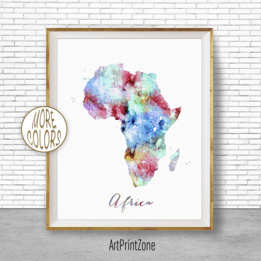 Map Of Africa Africa Map Africa Print Africa Continent Map Wall Throughout 2017 Africa Map Wall Art (Gallery 2 of 20)