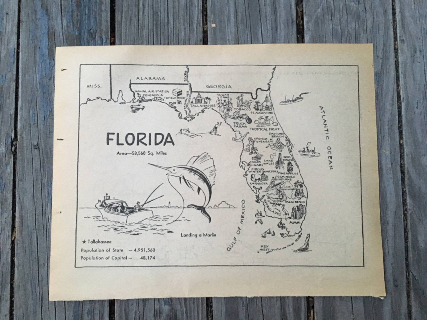 Featured Photo of Florida Map Wall Art