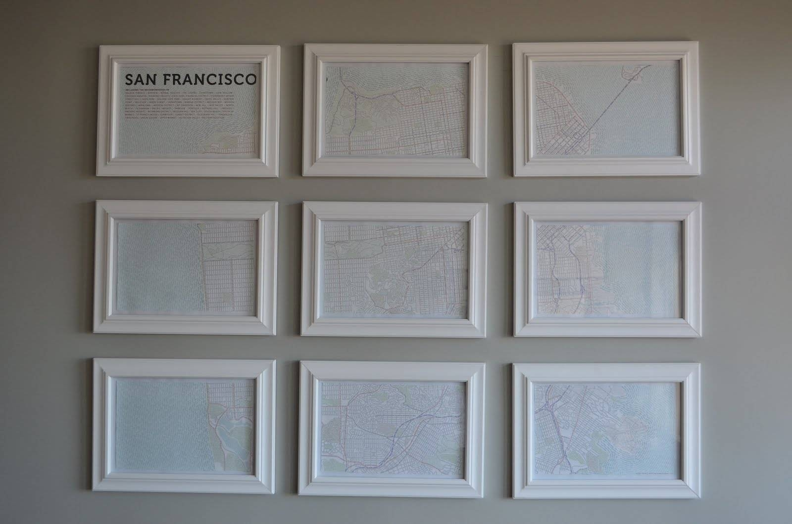 Map Wall Art Diy | They So Loved Events | Wine Country & San Throughout 2018 San Francisco Map Wall Art (View 4 of 20)