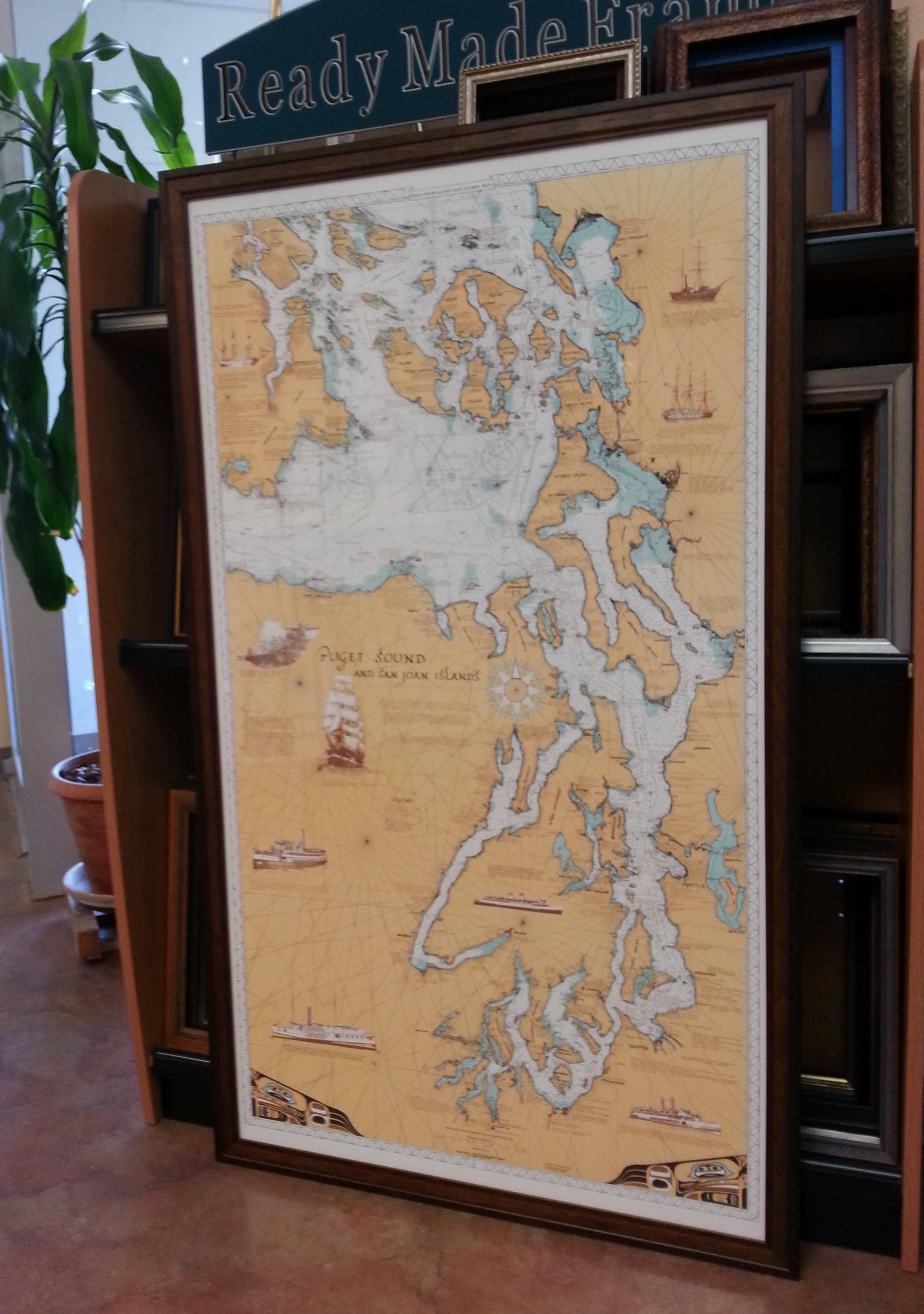 Maps, Charts & Diagrams | Duke City Art & Frame Throughout Most Popular Nautical Map Wall Art (View 7 of 20)